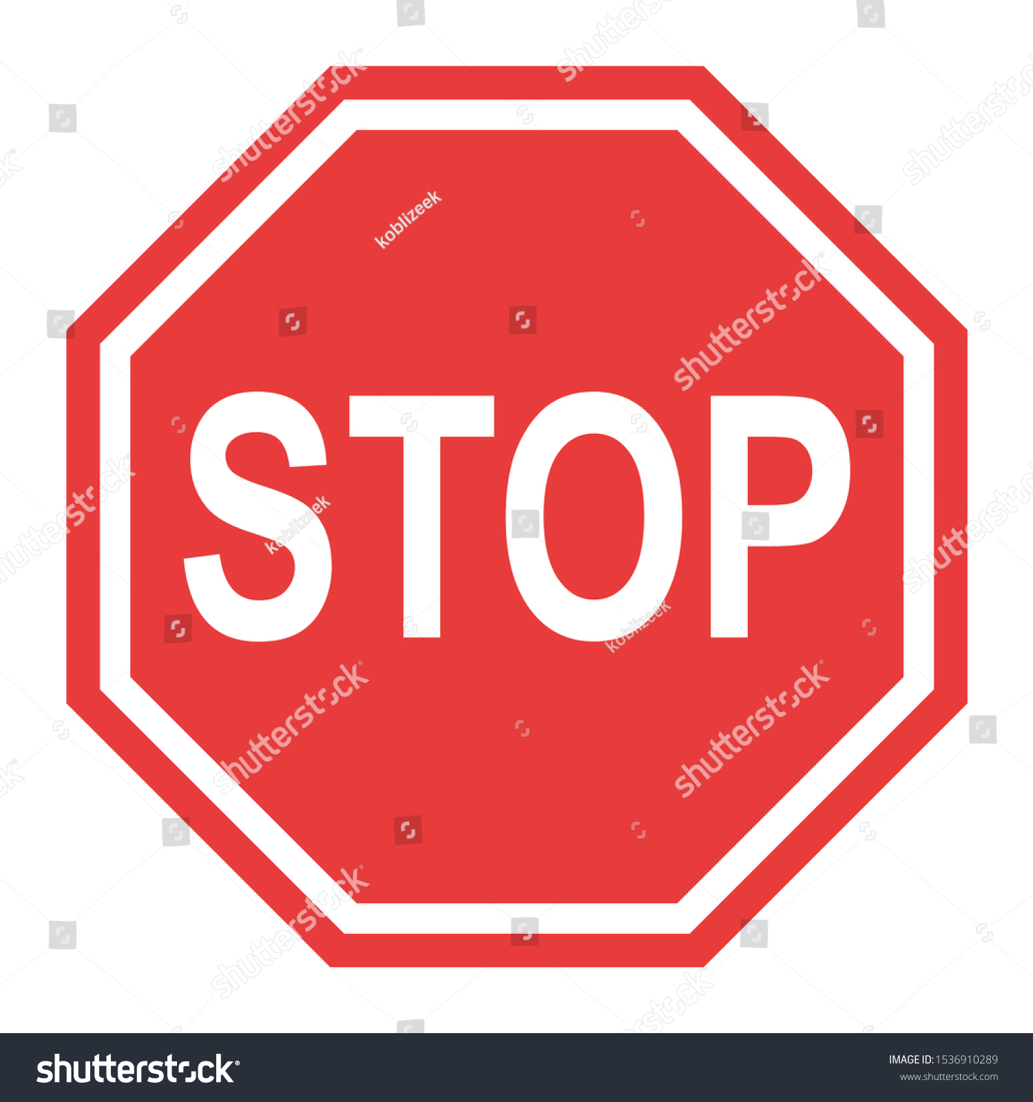 Stop Sign Icon Stop Vector Red Stock Vector Royalty Free 1536910289