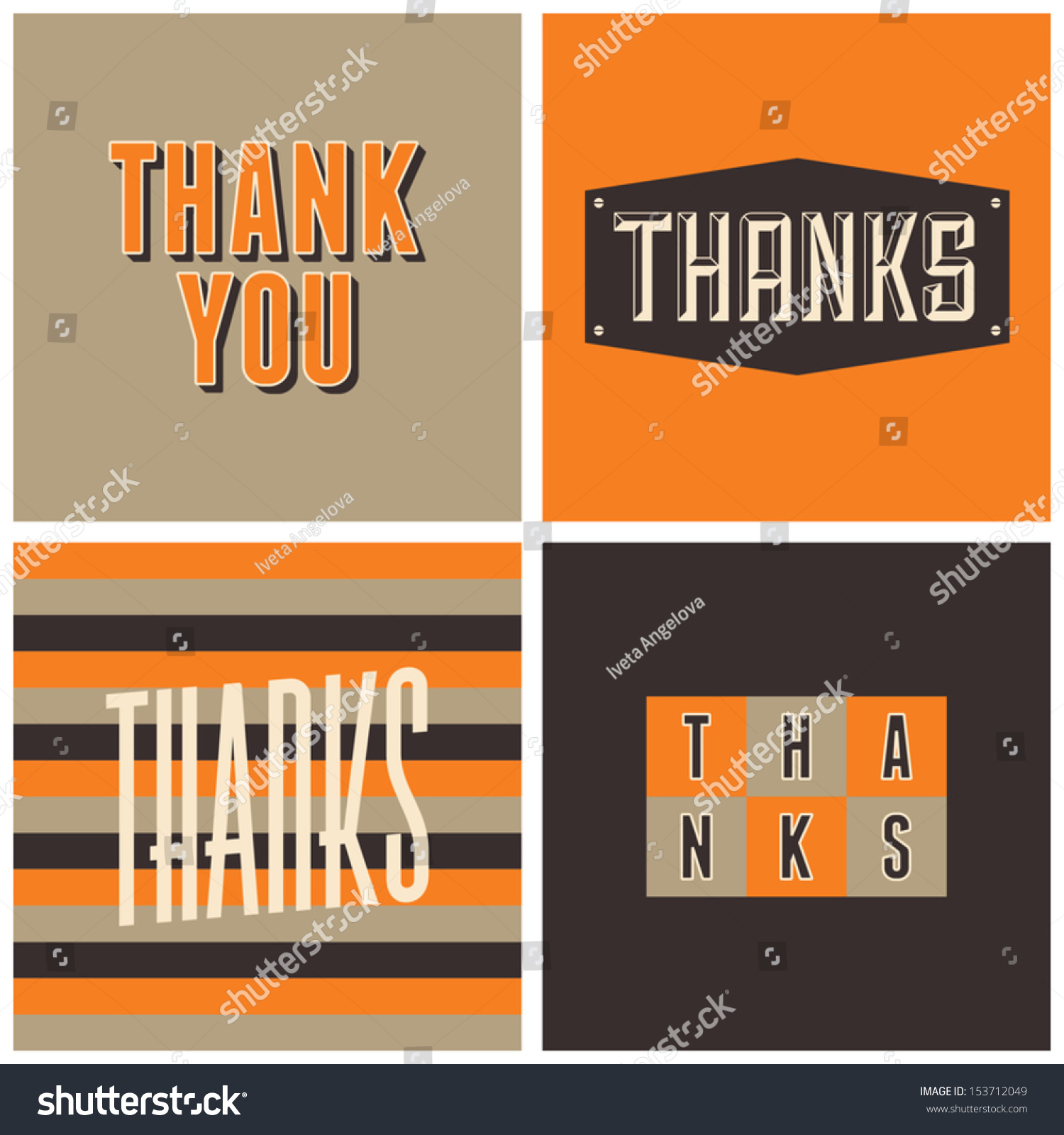 Set four retro design greeting cards stock vector 153712049 a set of four retro design greeting cards for thanksgiving day kristyandbryce Images