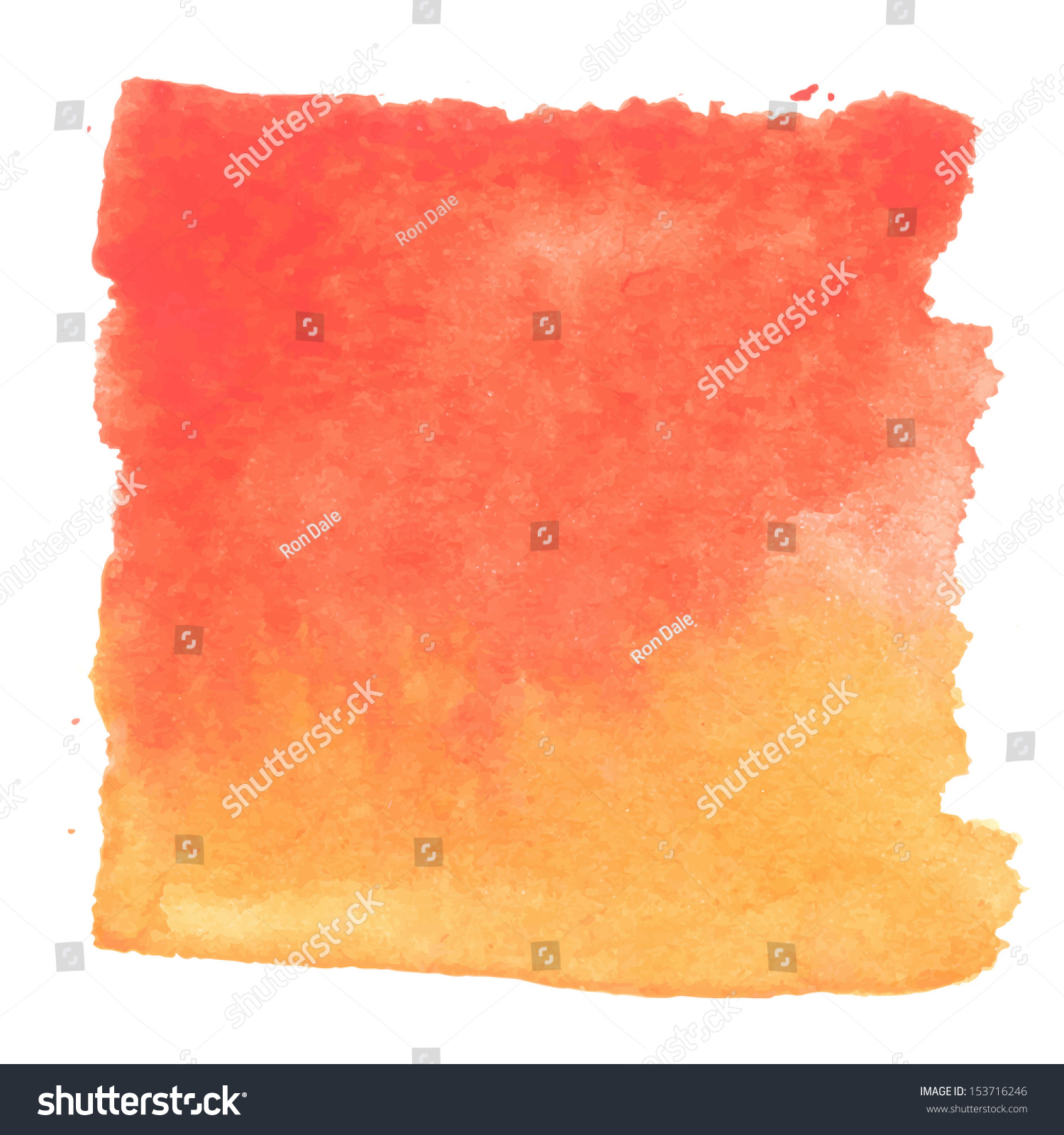Abstract Watercolor Art Hand Paint Isolated On White Background. Watercolor  Stains. Square Red