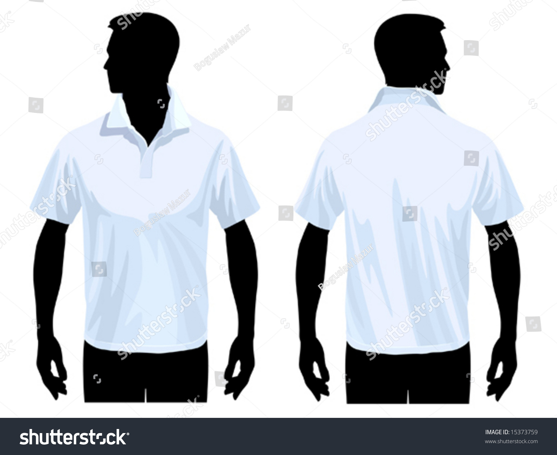 Shirts human design - Men S Polo Shirt Template With Human Body Silhouette