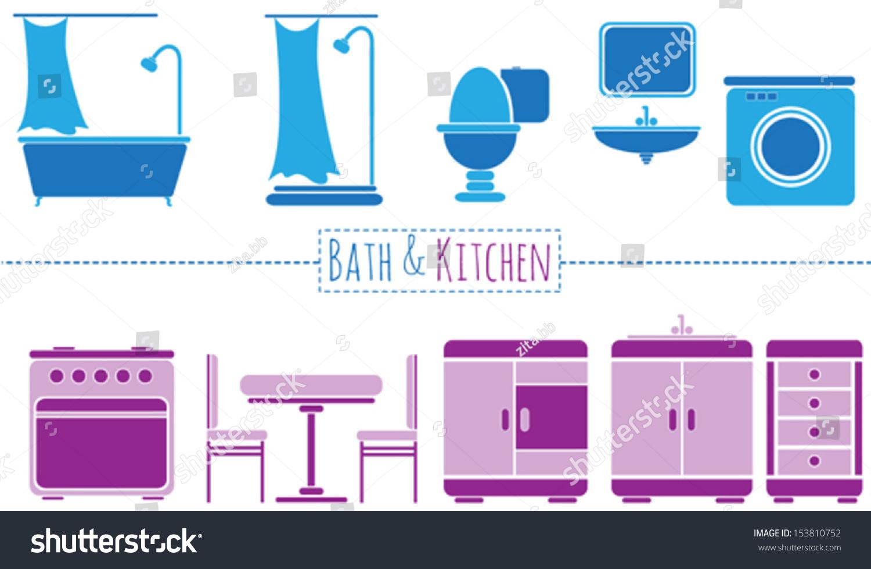 Toilet signs vector set stock images image 36323784 - Minimal Vector Bathroom Kitchen Set Stock Vector 153810752 Stock Vector Minimal Vector Bathroom And Kitchen Set