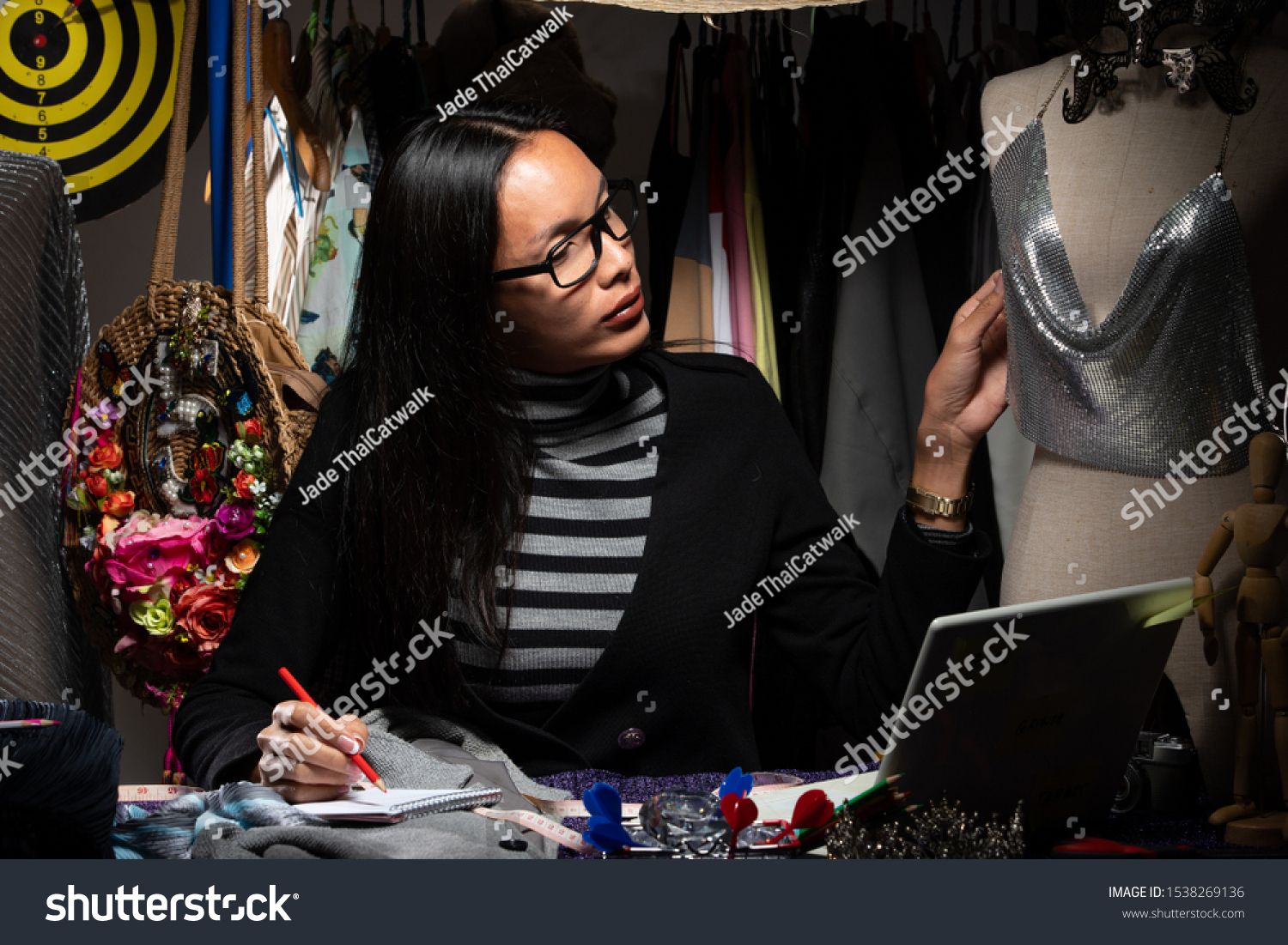 Diversity Fashion Designer Checks Material On Business Finance Stock Image 1538269136