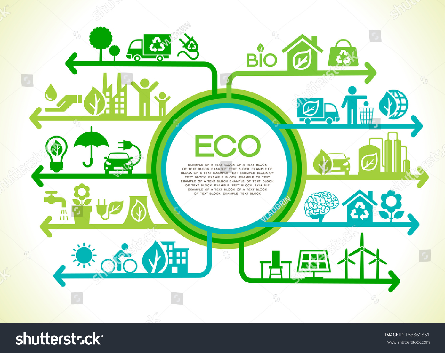 eco concept tree earth nature green stock vector 153861851 shutterstock. Black Bedroom Furniture Sets. Home Design Ideas