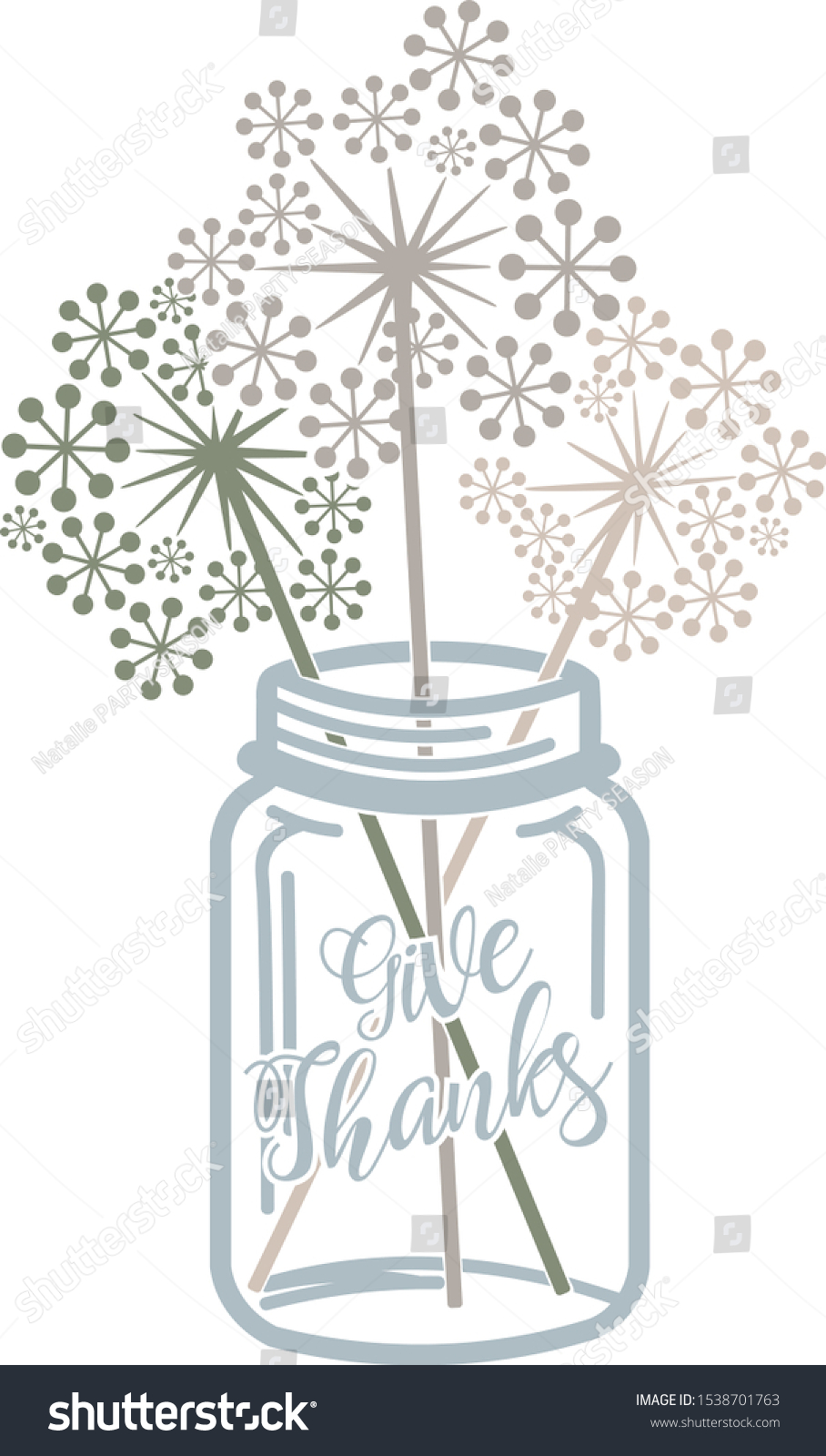 Give Thanks Digital Files Dandelions Clip Stock Vector Royalty Free 1538701763