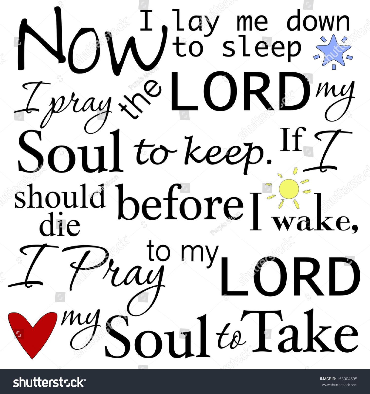 Now Lay Me Down Sleep Prayer Stockillustratie 153904595 Shutterstock