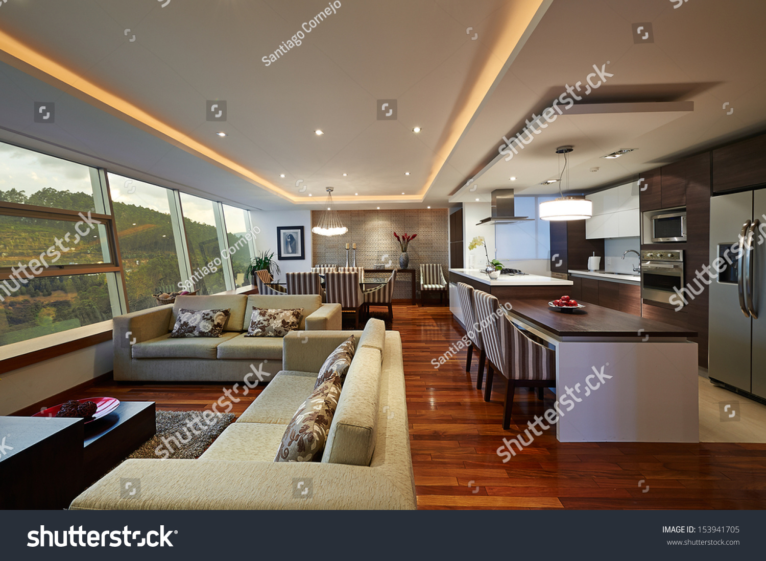 Interior design big modern living room stock photo Modern big living room ideas