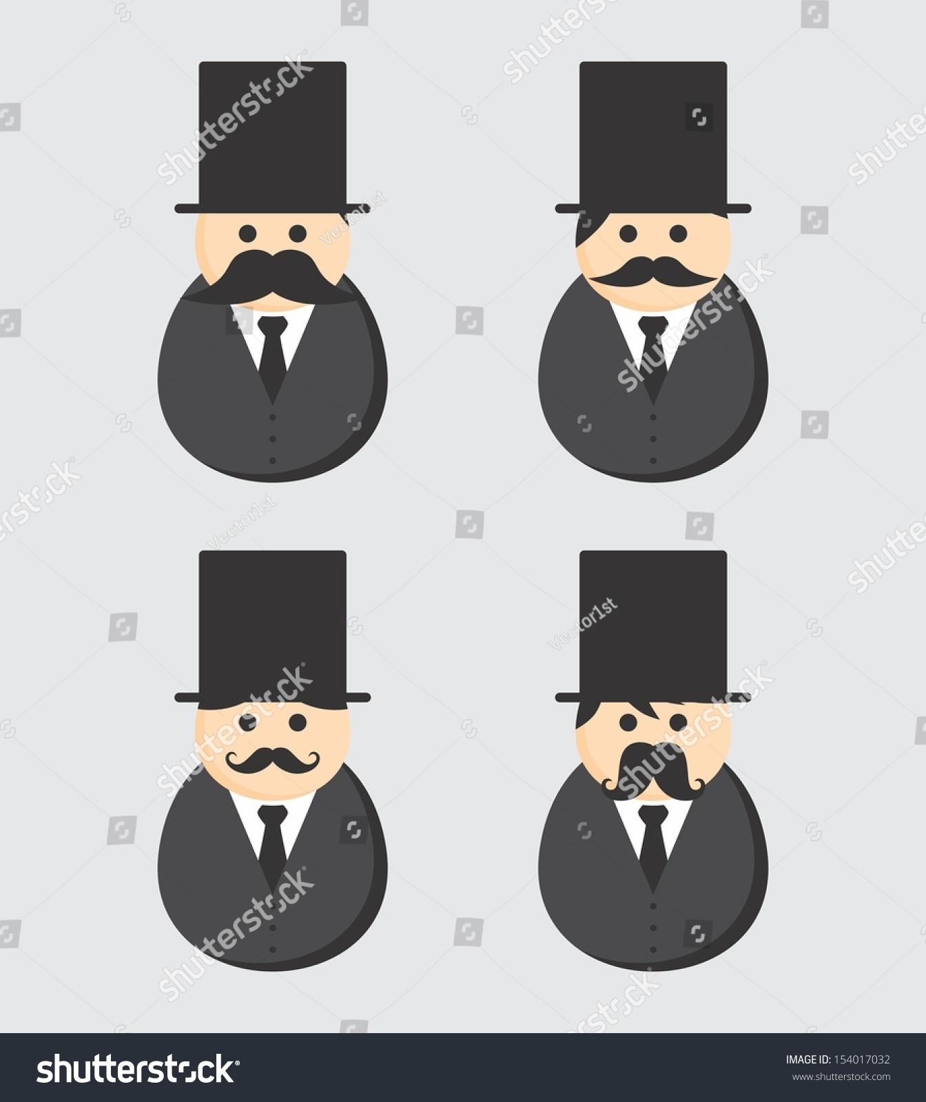 Stock Vector Mustache People