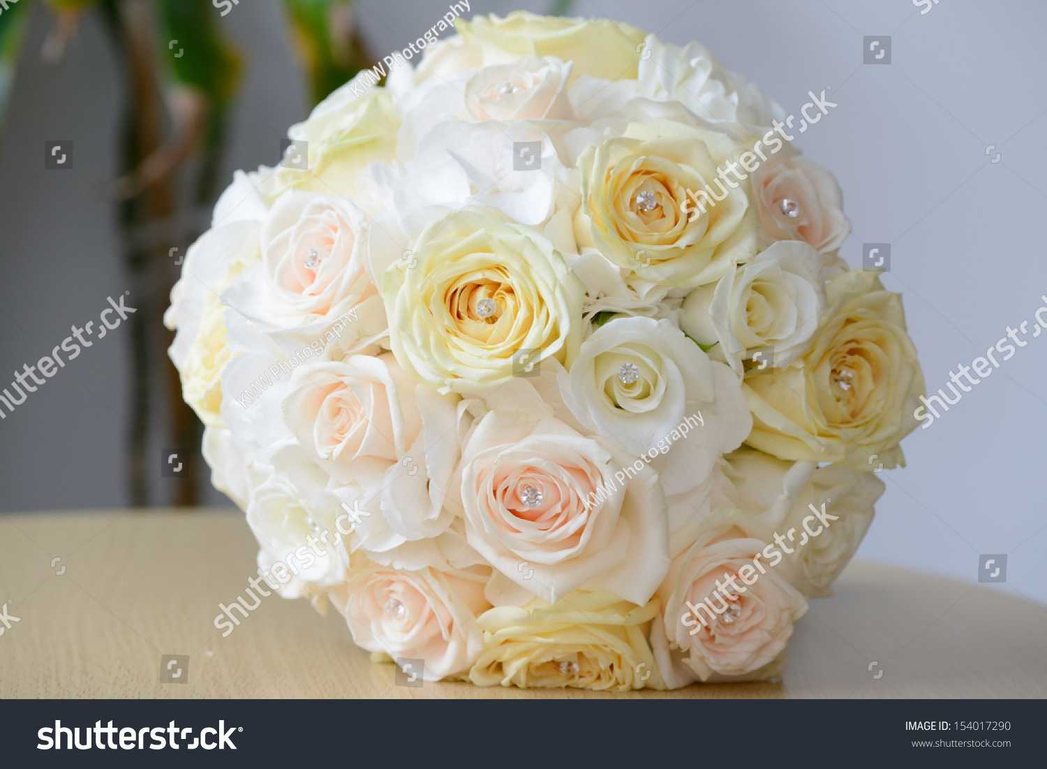 Brides Yellow Bouquet Of Rose Flowers On Wedding Day Ez Canvas