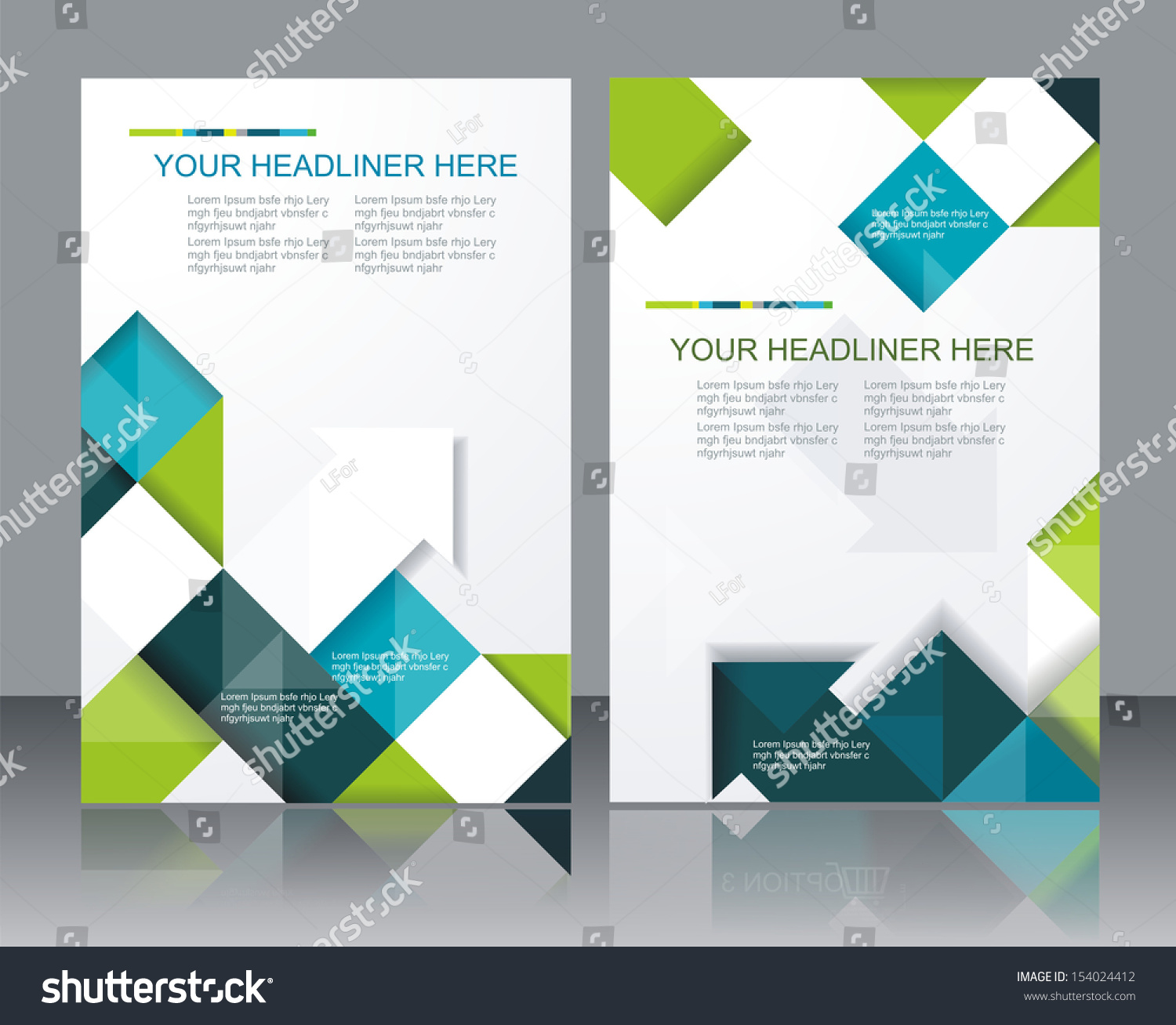 brochure template design - vector brochure template design cubes arrows stock vector