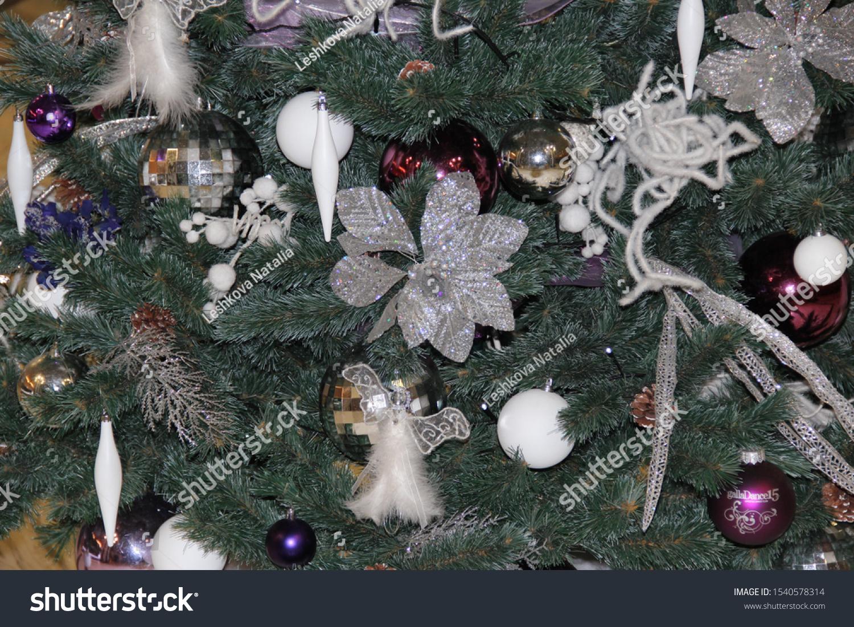 Beautiful Christmas Tree Decoration Vintage Toys Stock Photo Edit Now 1540578314
