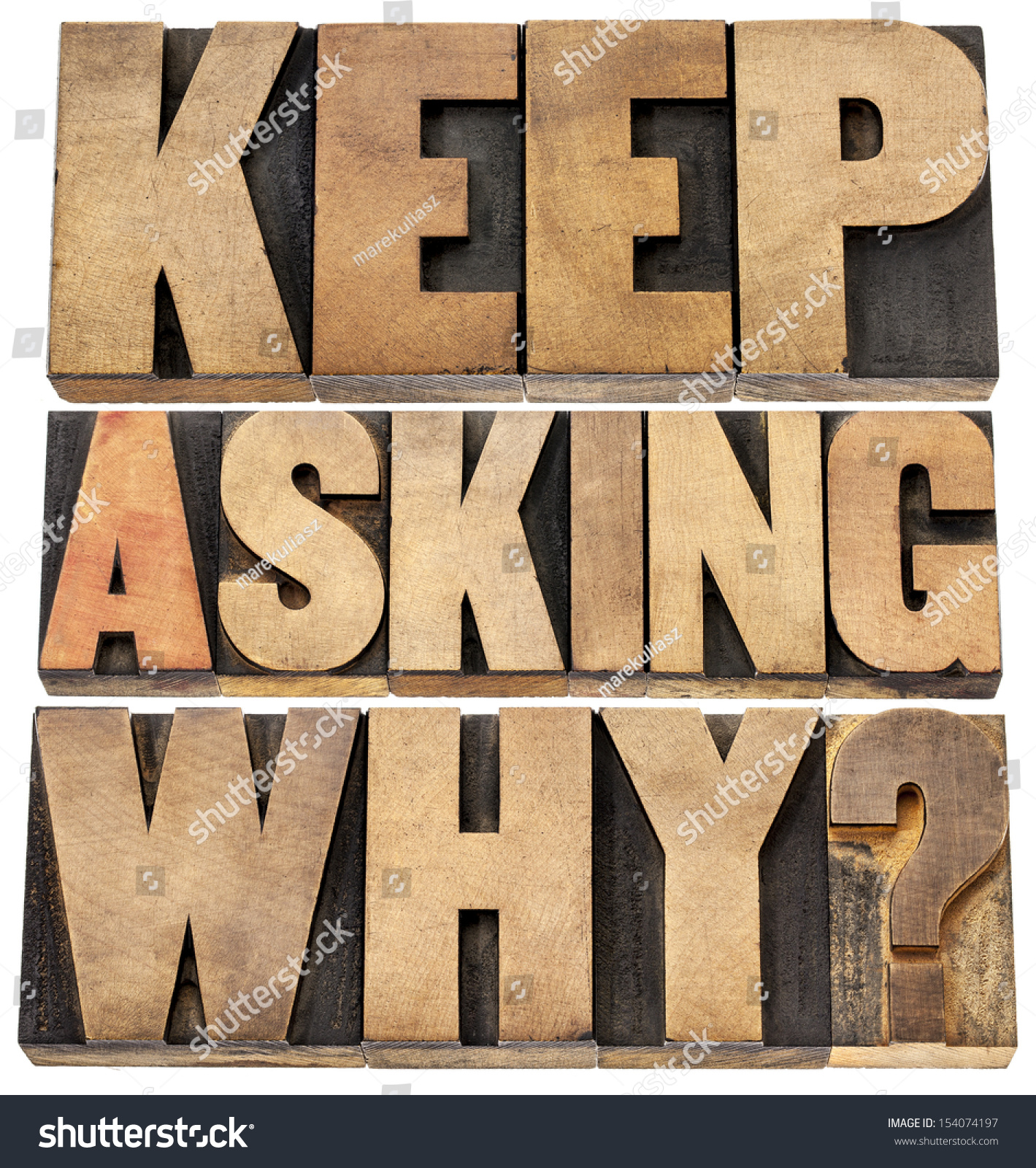 Keep Asking Why Motivational Advice Collage Stock