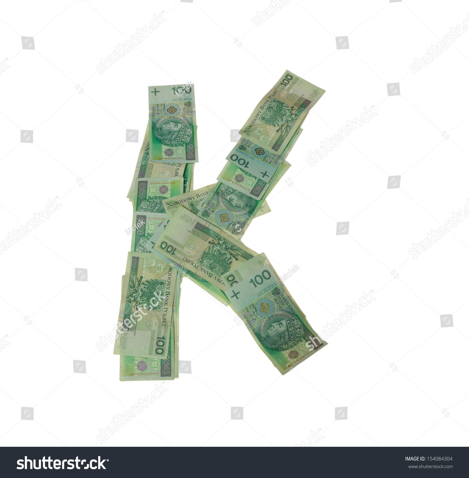 K Letter Character Isolated Clipping Patch Stock Photo Royalty Free