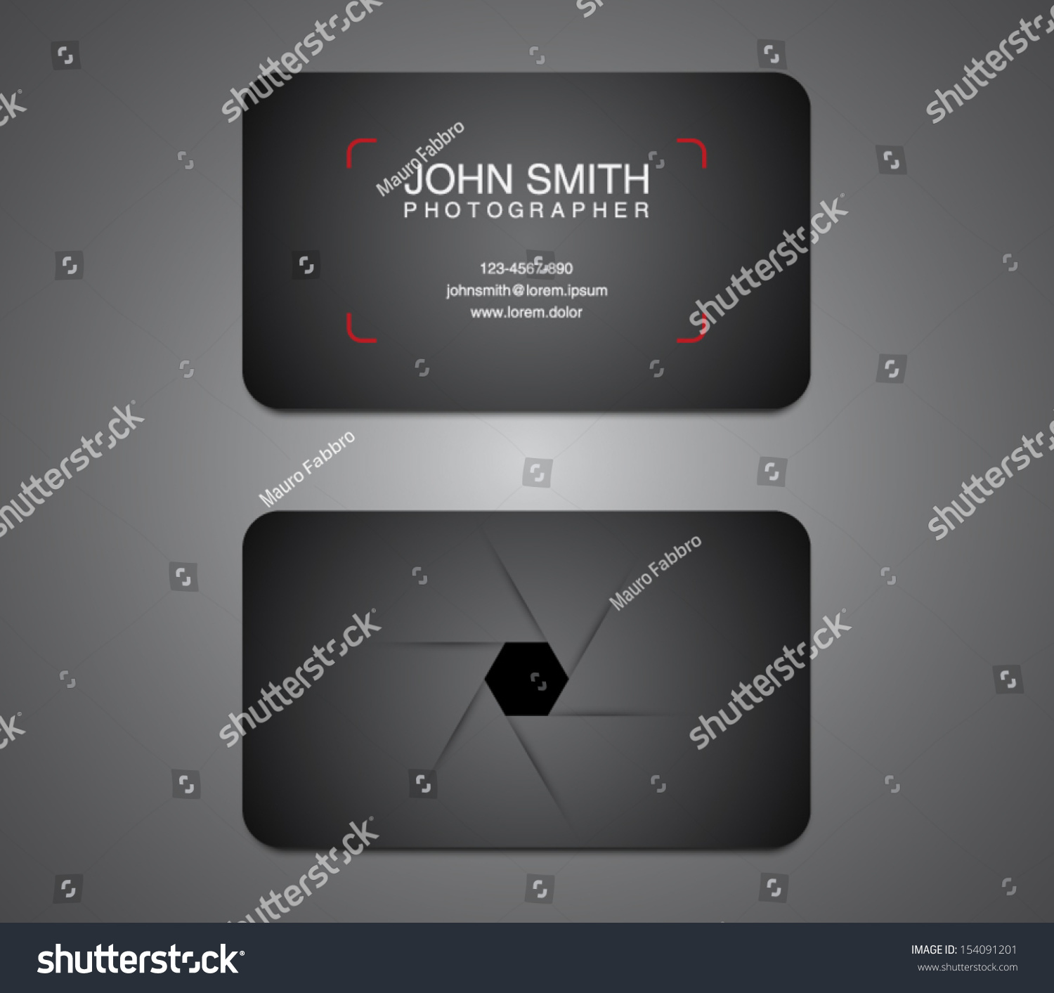 Photographer business card template photography photo stock vector photographer business card template photography photo presentation logo logotype brand friedricerecipe Choice Image