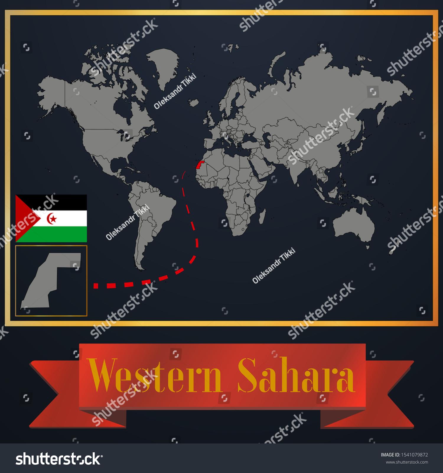 Image of: Vector De Stock Libre De Regalias Sobre Western Sahara Sahrawi Arab Democratic Republic1541079872