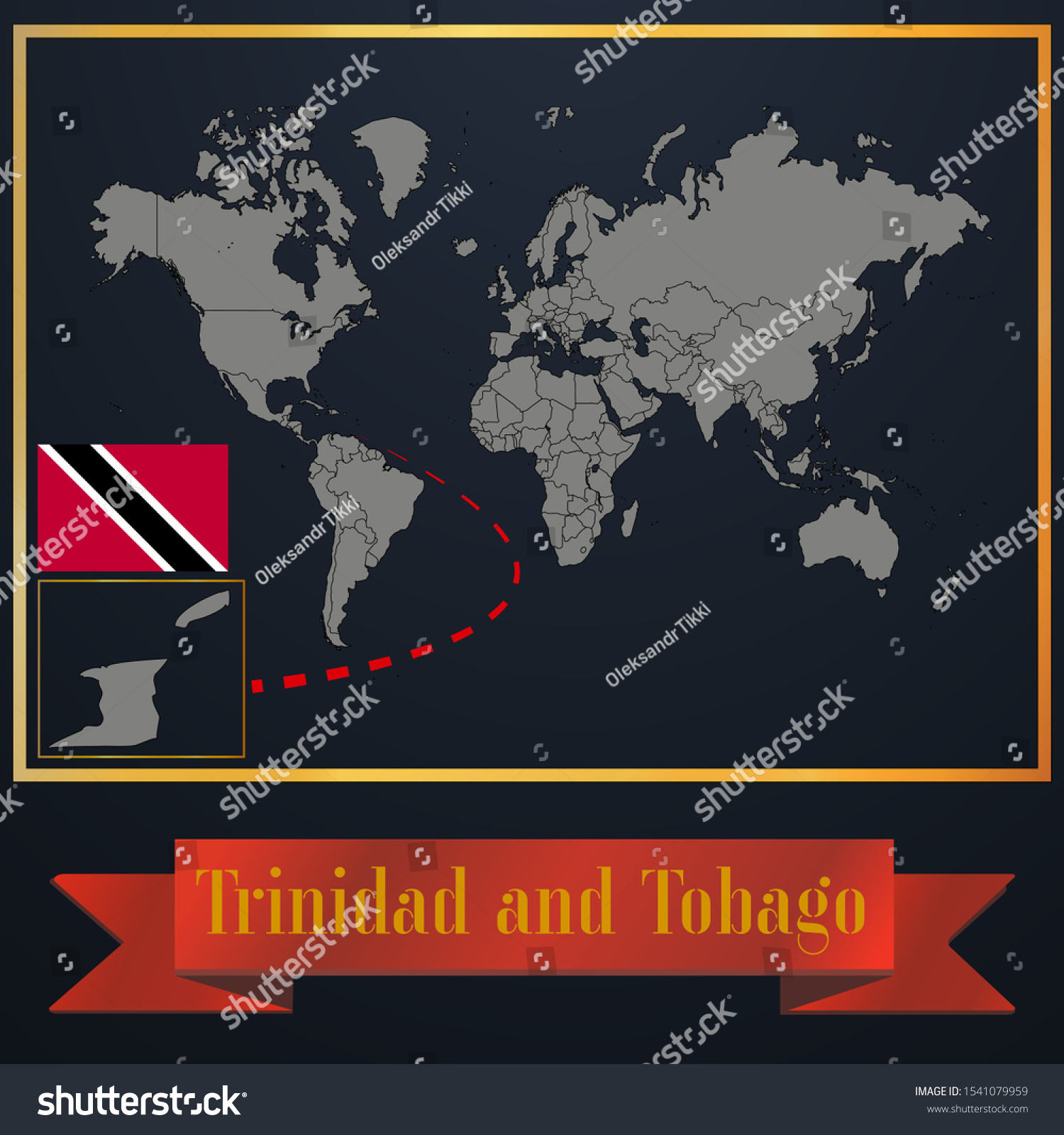 Picture of: Vector De Stock Libre De Regalias Sobre Caribbean Trinidad Tobago National Flag Realistic1541079959