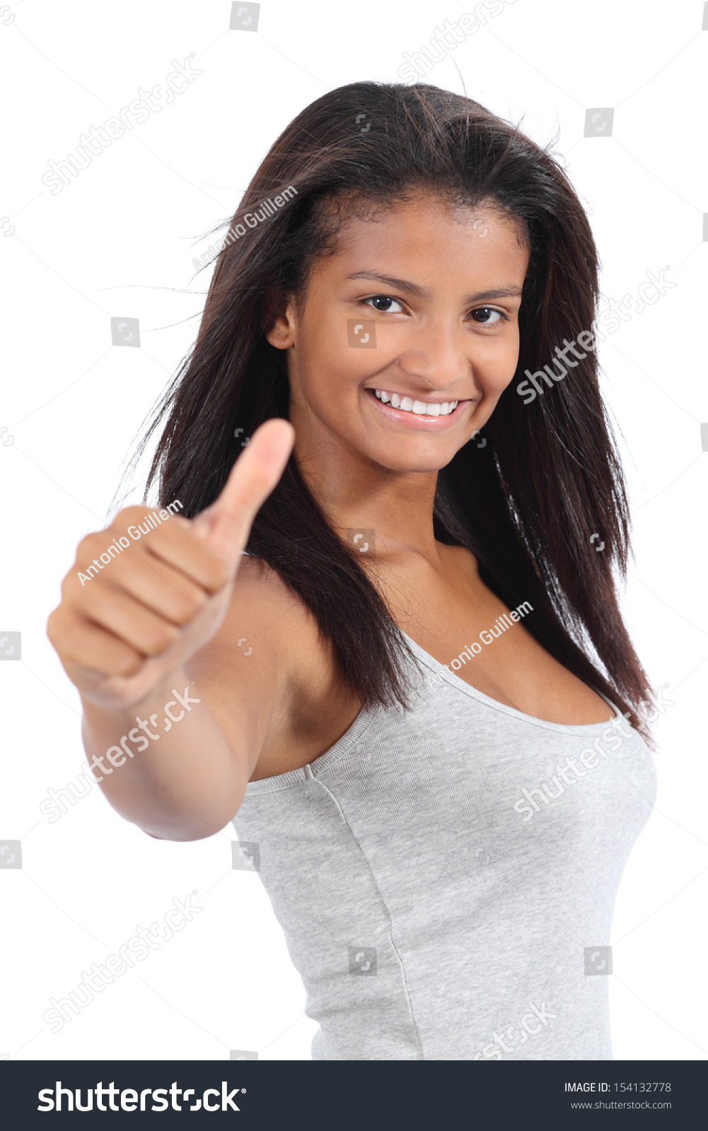 Beautiful Colombian Teenager Girl Gesturing Thumb Up ... on Small:zikqrscfop8= Teenage Girls  id=86830