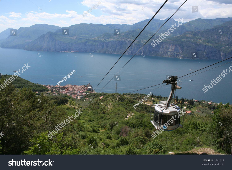 Cable Car Down Malcesine Lake Garda Stock Photo 1541632 Shutterstock
