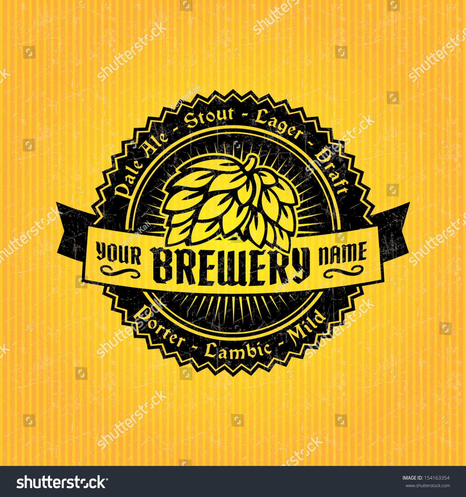 beer label design template stock vector 154163354 shutterstock. Black Bedroom Furniture Sets. Home Design Ideas