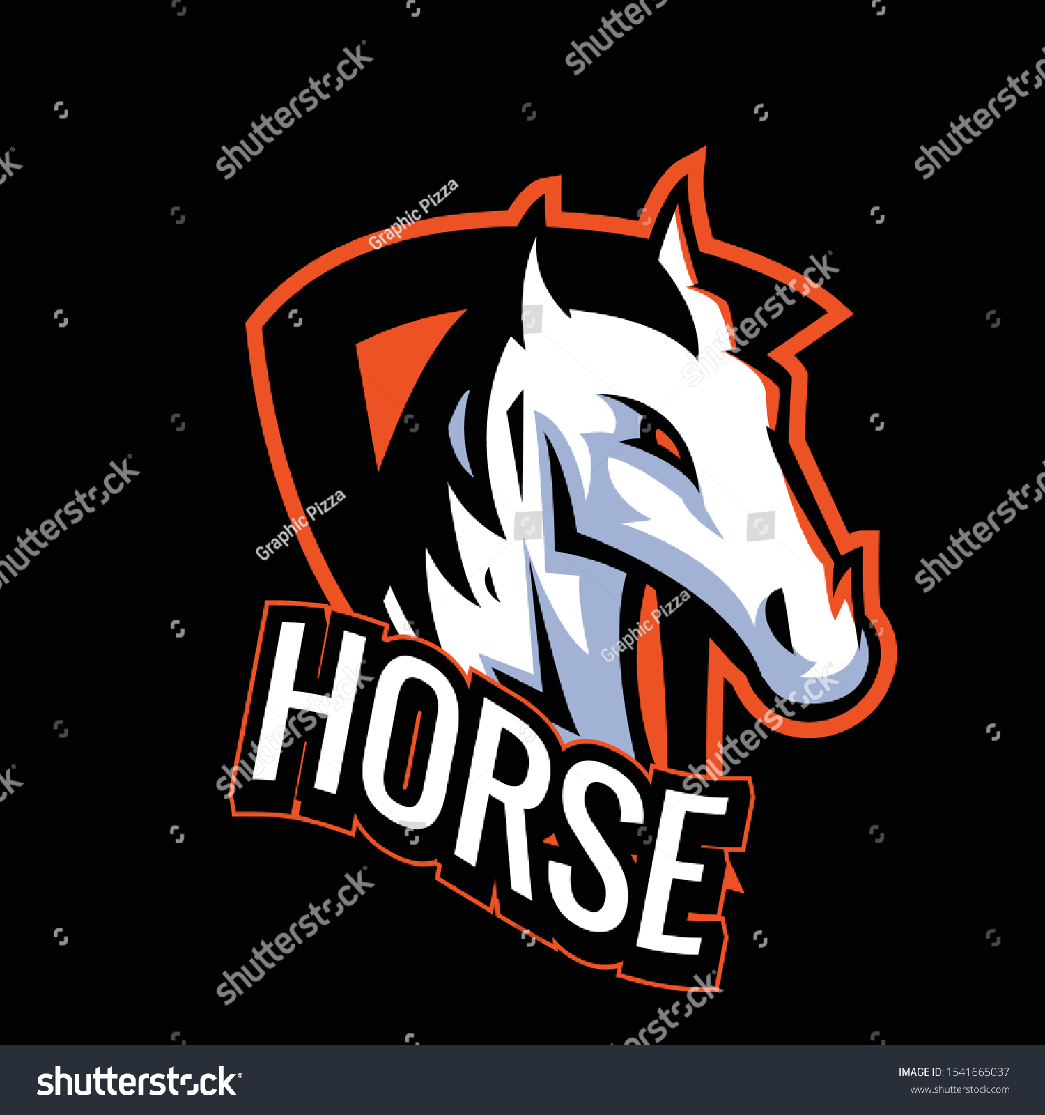 Horse Esports Gaming Logo Animals Stock Vector Royalty Free 1541665037