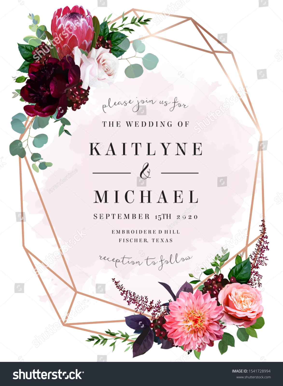 Luxury Fall Flowers Wedding Vector Bouquet Stock Vector Royalty Free 1541728994