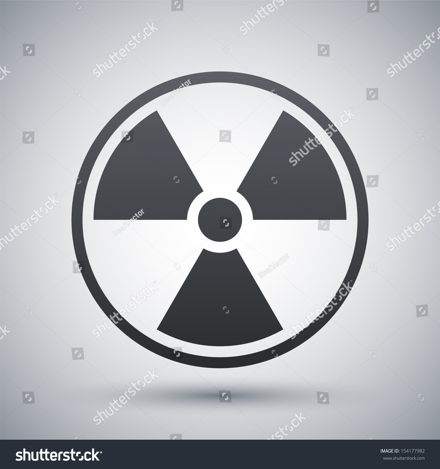 Vector nuclear sign icon stock vector 154177982 shutterstock vector nuclear sign or icon biocorpaavc Gallery