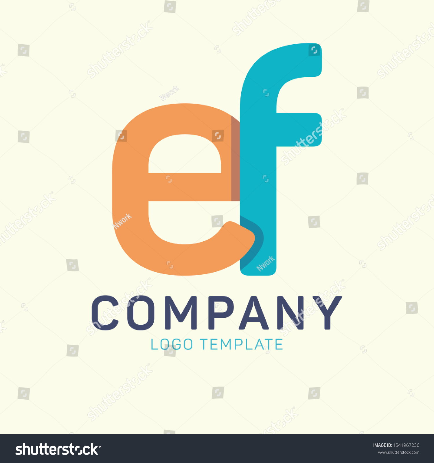 Company Logo Ef Monogram Design Letters Stock Vector Royalty Free 1541967236