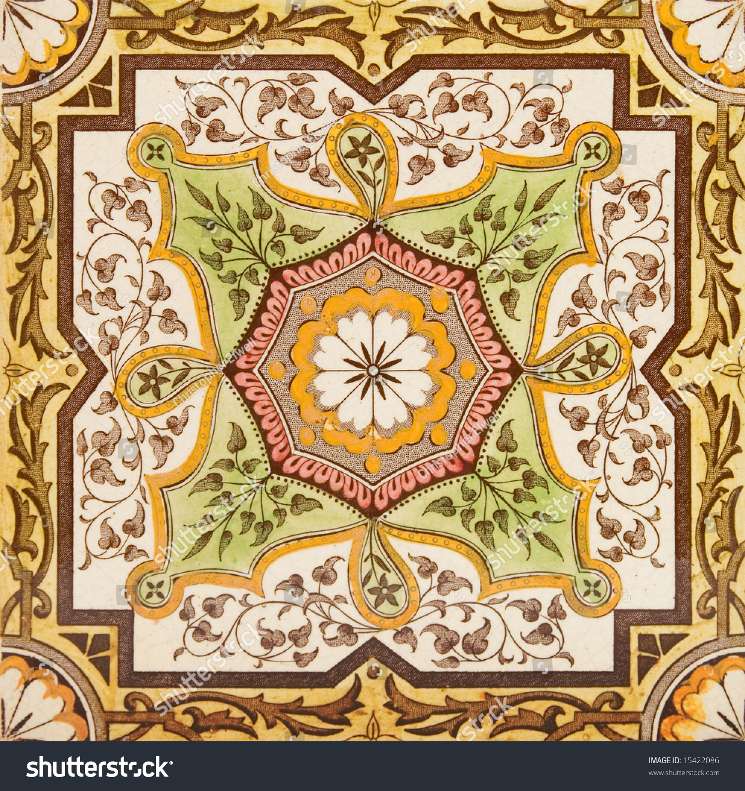 Decorative wall tile late victorian period stock photo 15422086 decorative wall tile from the late victorian period c1880 aesthetic style amipublicfo Gallery