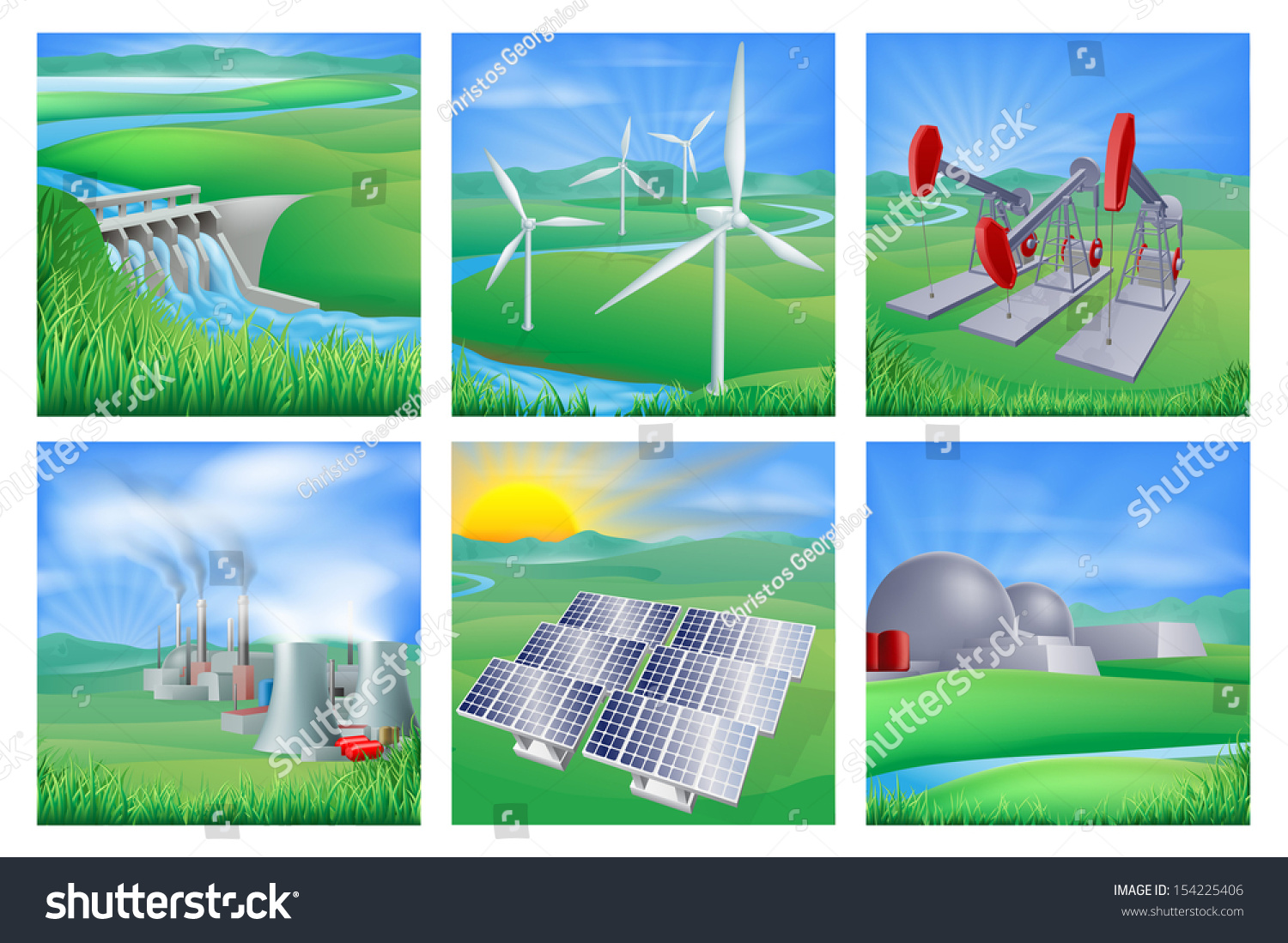 Different types power energy generation wind stock for Different type of water