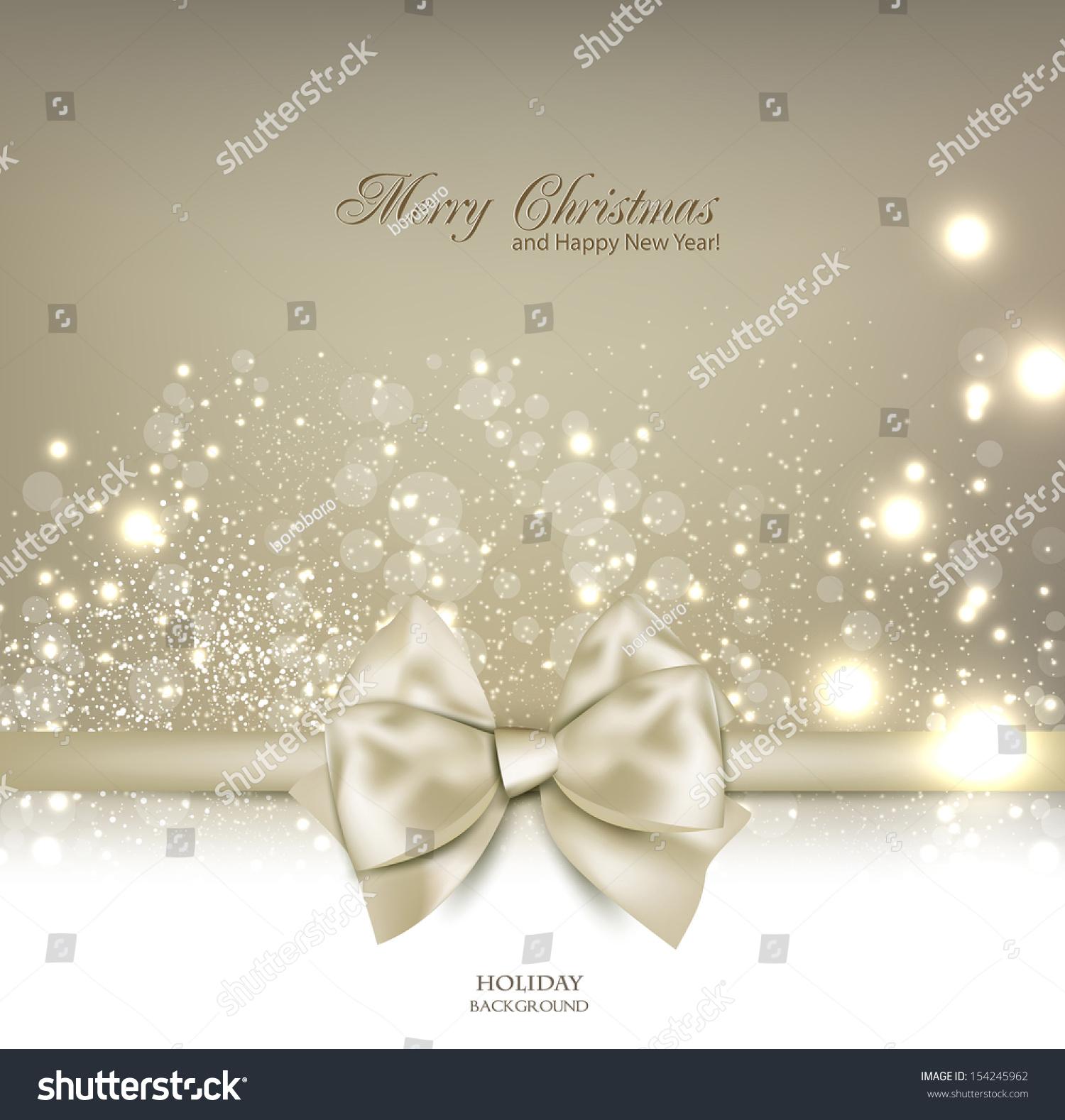 Elegant Christmas Background Images.Elegant Christmas Background Bow Place Text Stock Vector