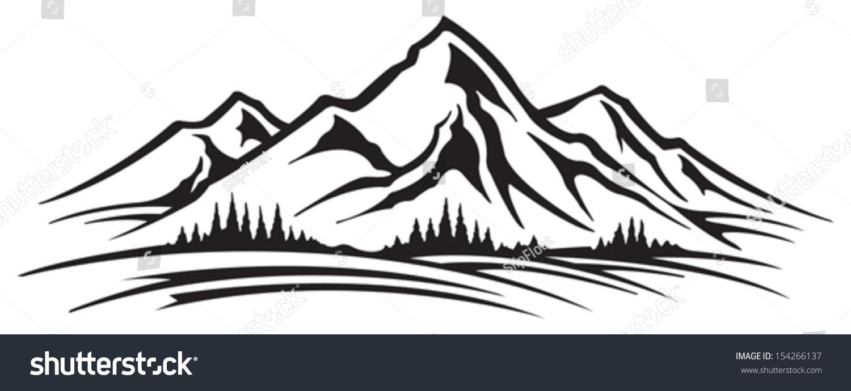Mountain Range Stock Vector 154266137 - Shutterstock