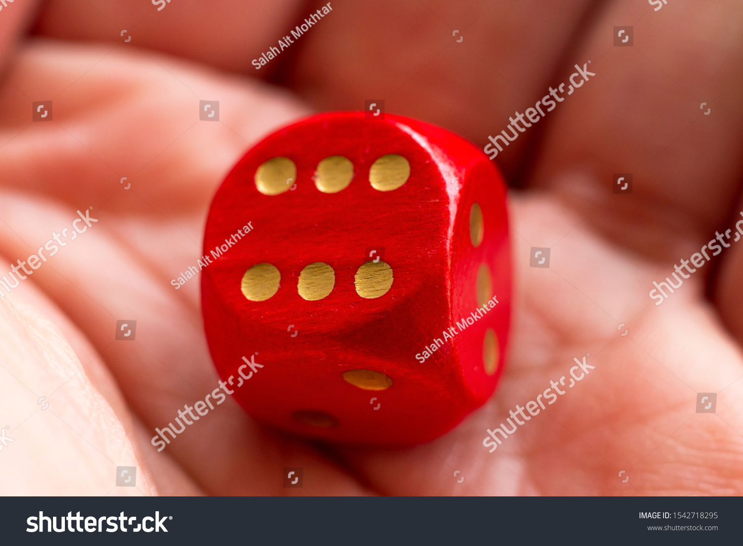Roll the dice - six diced in hand #1542718295