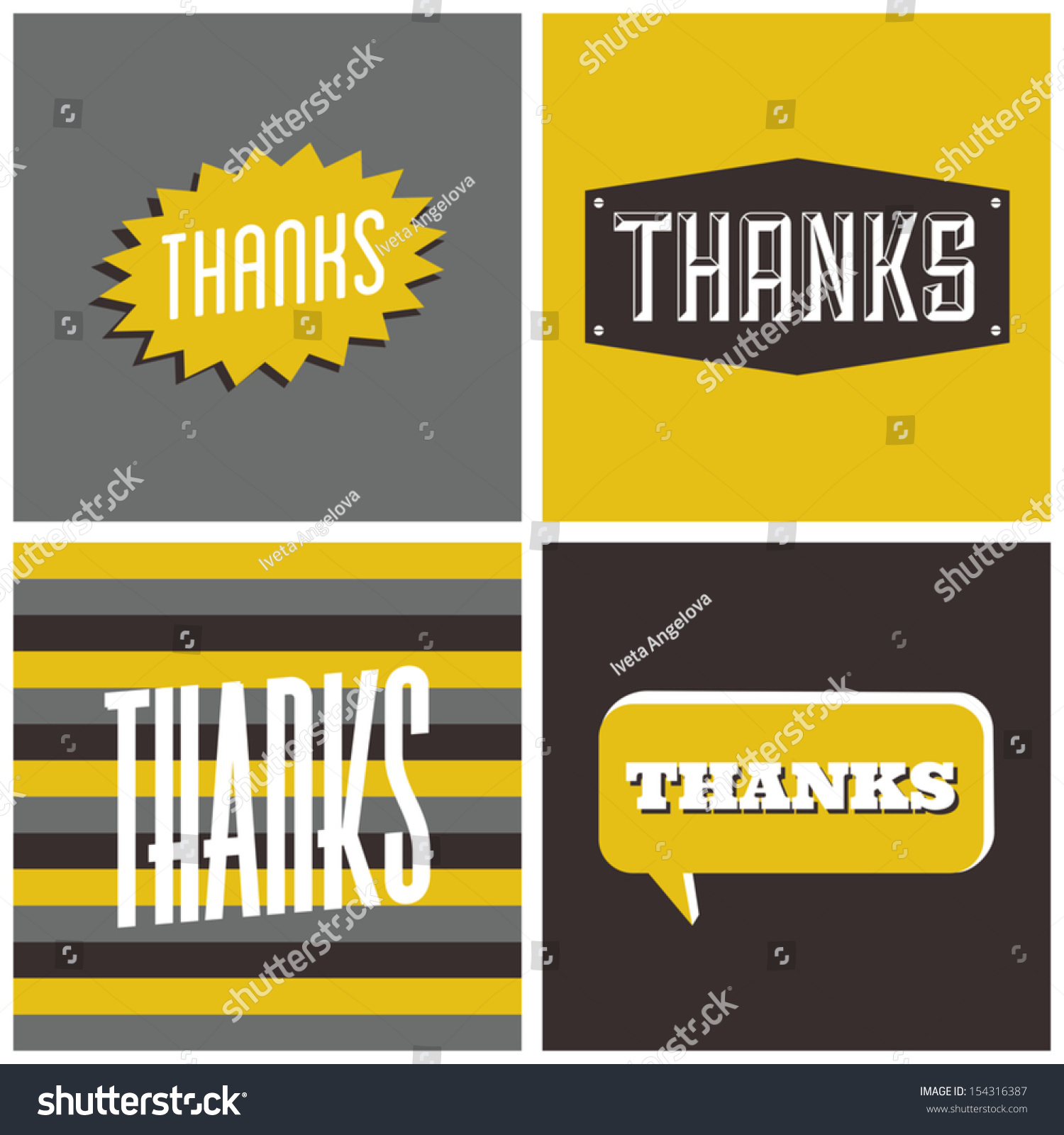 Set four retro design greeting cards stock vector 154316387 a set of four retro design greeting cards for thanksgiving day kristyandbryce Images