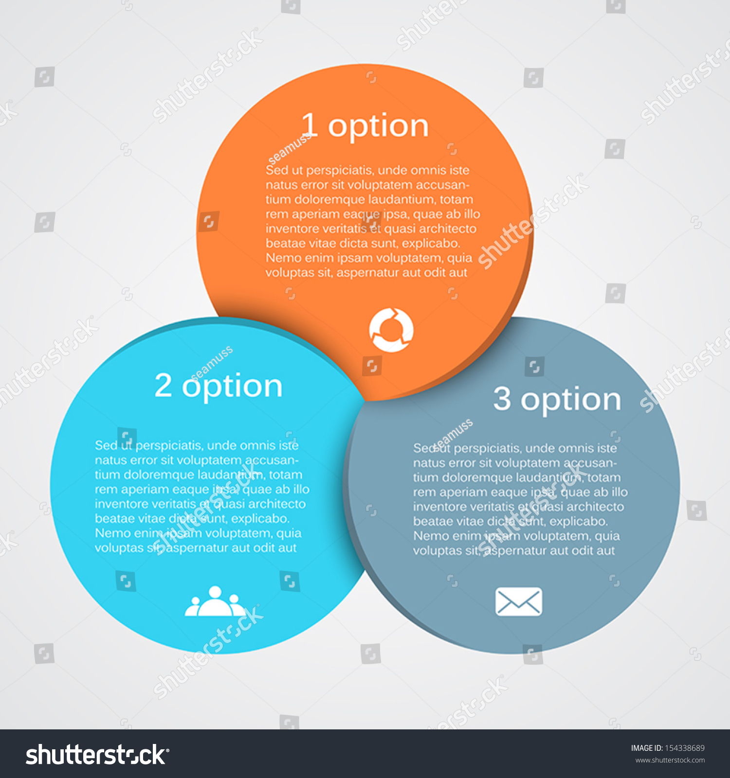 vector circle infographic template diagram graph stock