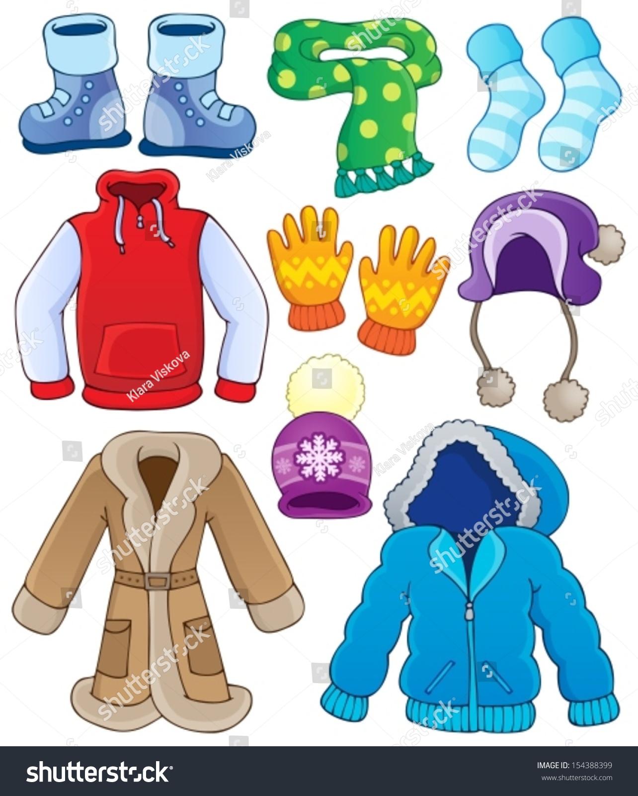 c14c11e6734b Winter Clothes Collection 3 Eps 10 Vector Stock Vector (Royalty Free ...
