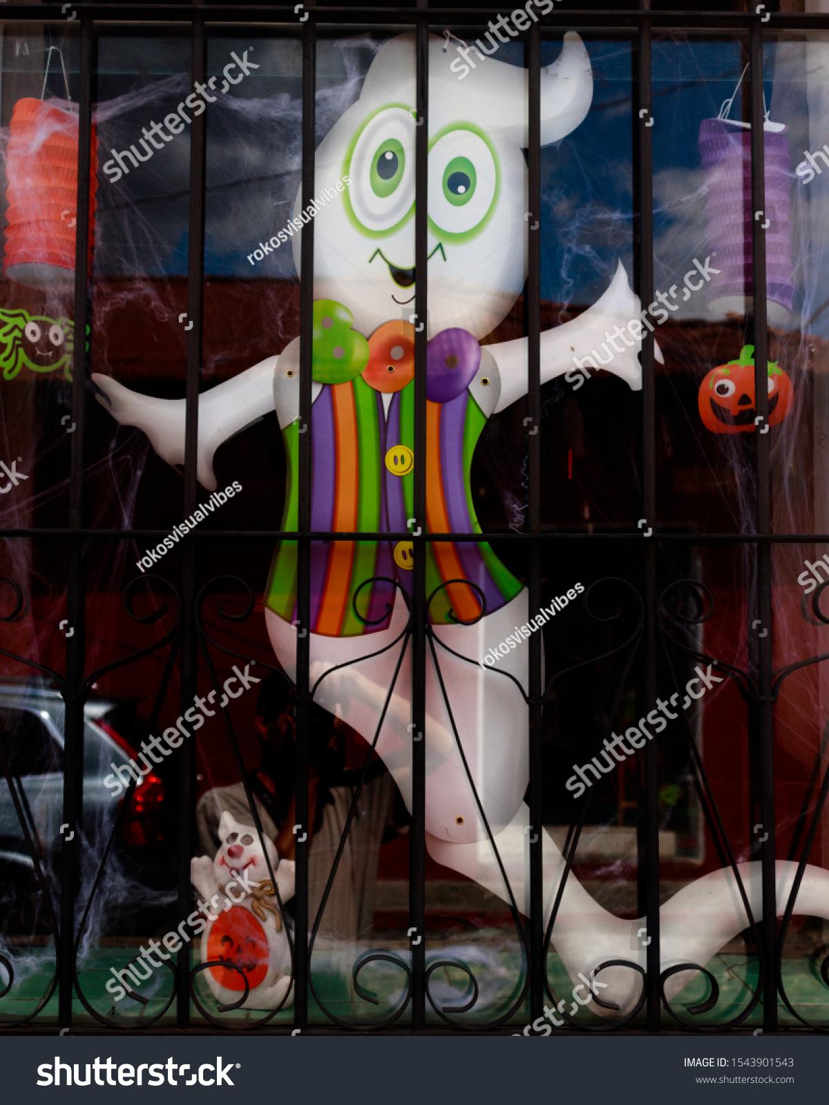Halloween Ghost Decoration Window Stock Edit Now