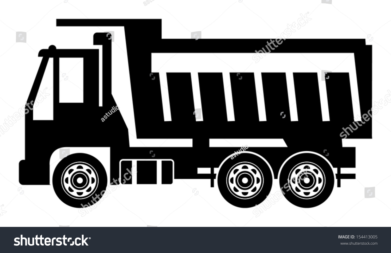 dump truck vector illustration stock vector 154413005 shutterstock