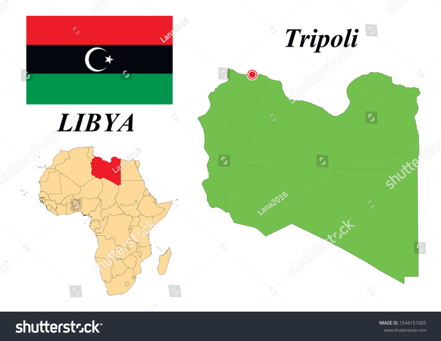 Picture of: State Libya Capital Tripoli Contour Map Stock Vector Royalty Free 1544151005