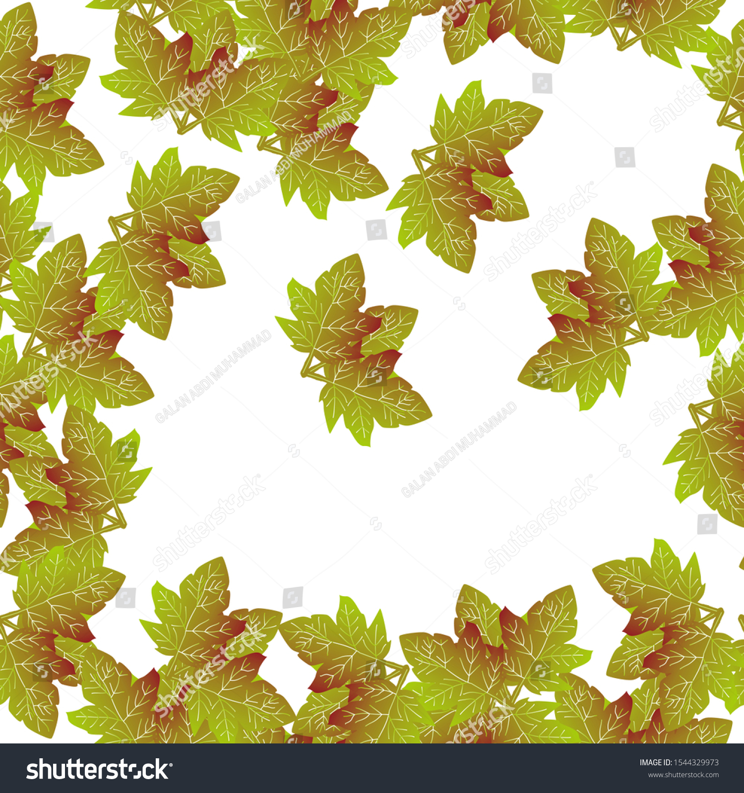 Autumn Seamless Pattern Leaf Autumn Leaf Stock Vector Royalty Free 1544329973