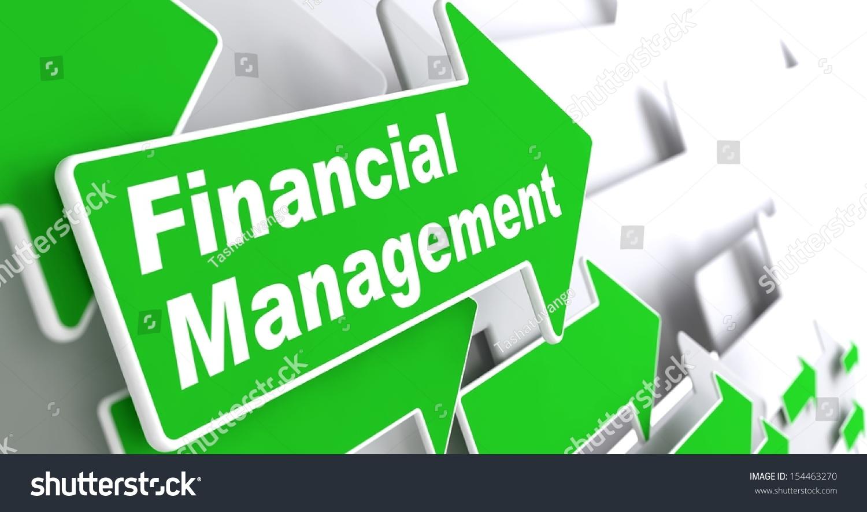 Financial Management Business Concept Green Arrow Stock ...
