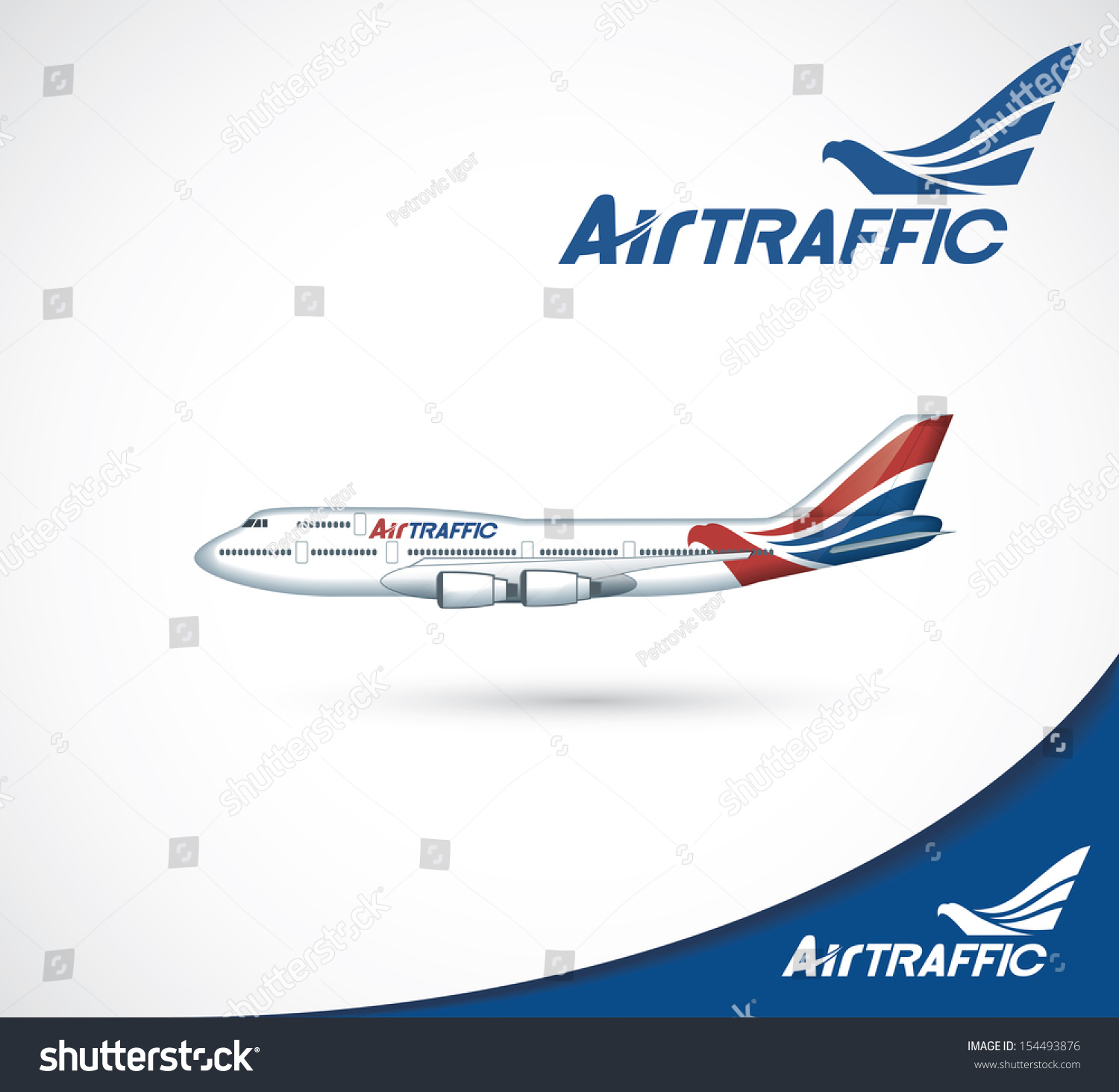 The exterior design of aircraft vector illustration for Airplane exterior design