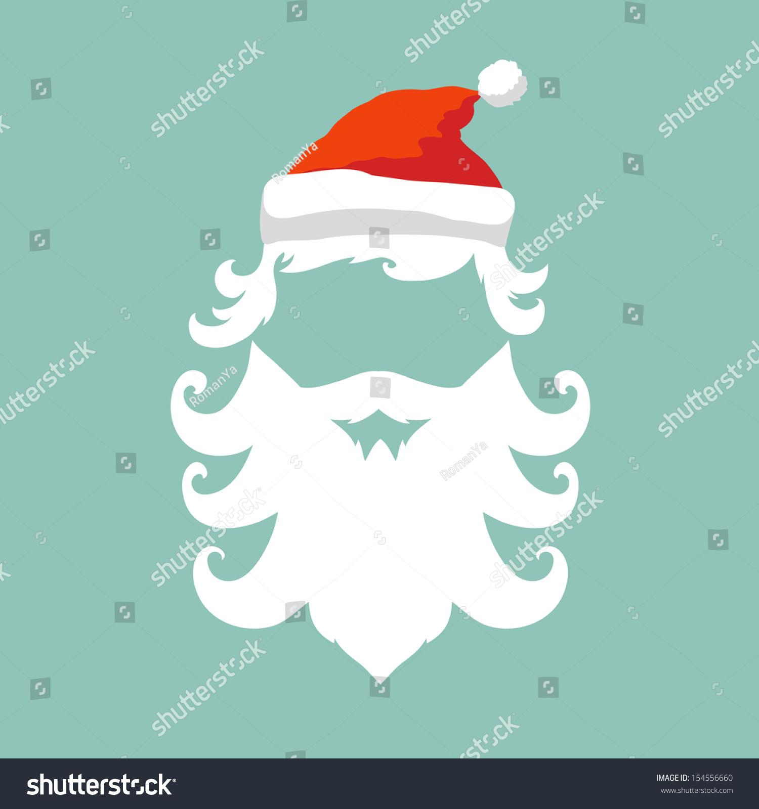 Santa Claus Fashion Silhouette Hipster Style Stock Vector 154556660 Shutterstock