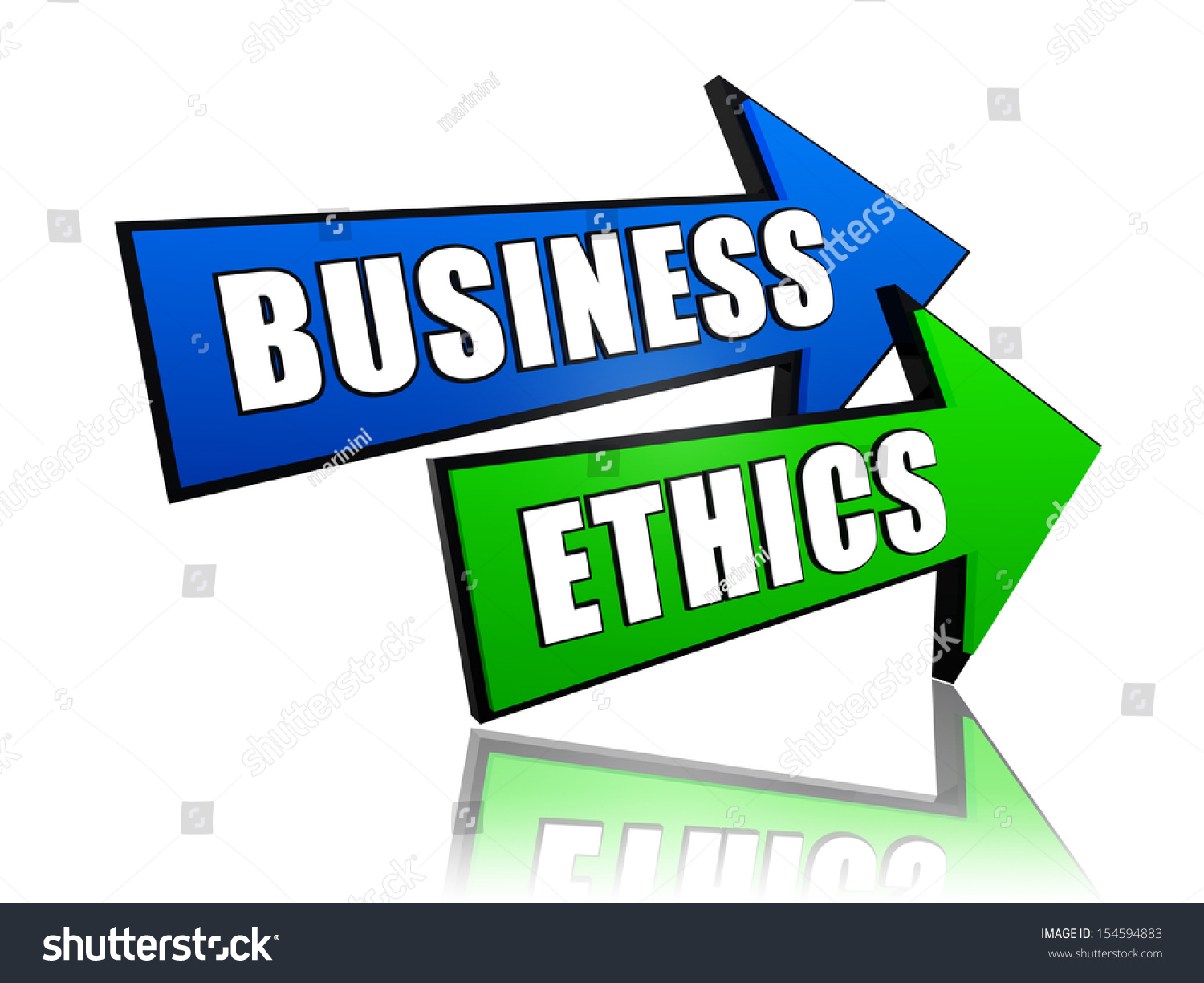Business Ethics Text 3d Color Arrows Stock Illustration 154594883 ...