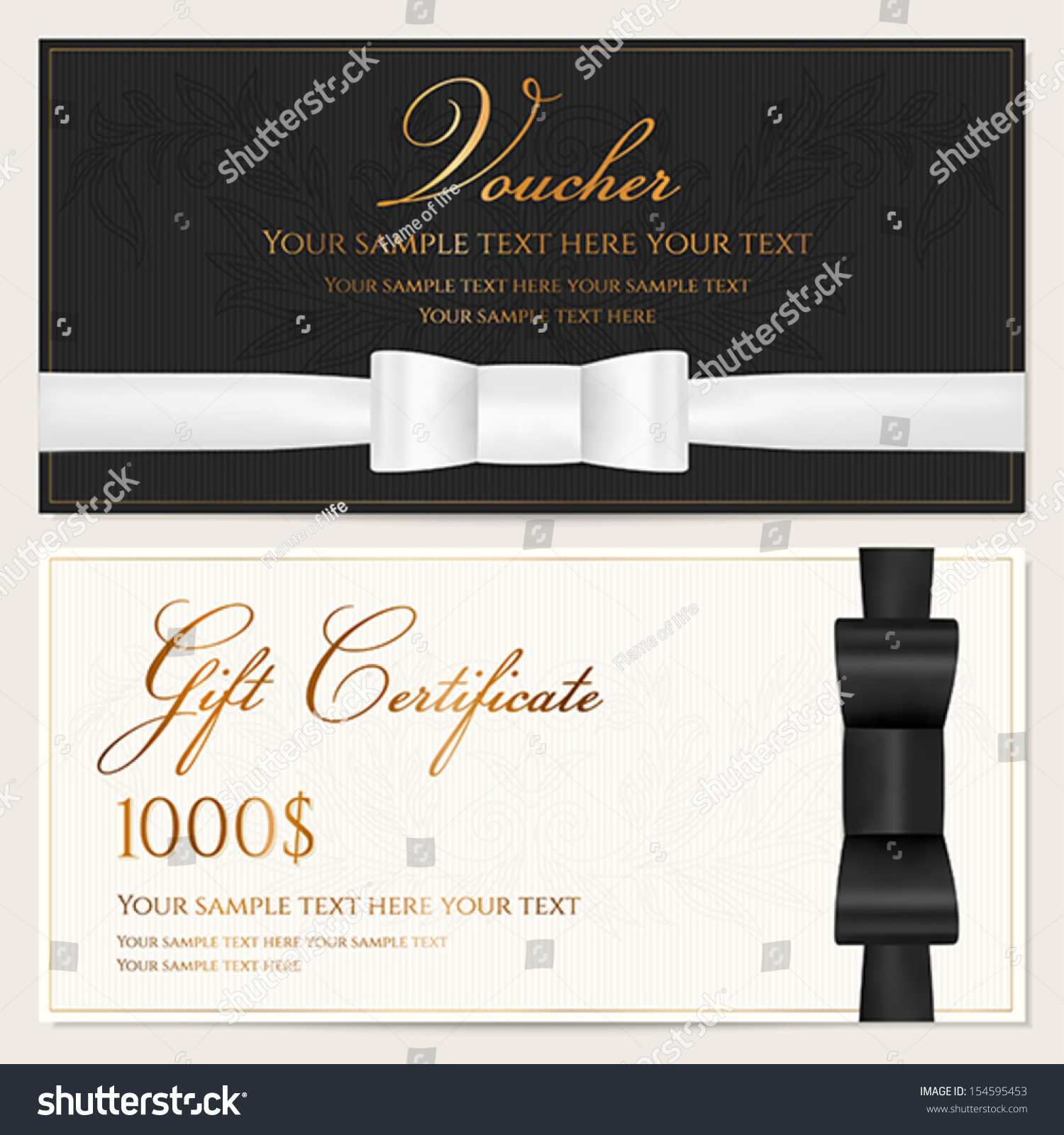 Voucher gift certificate coupon invitation gift lager for Cheque voucher template