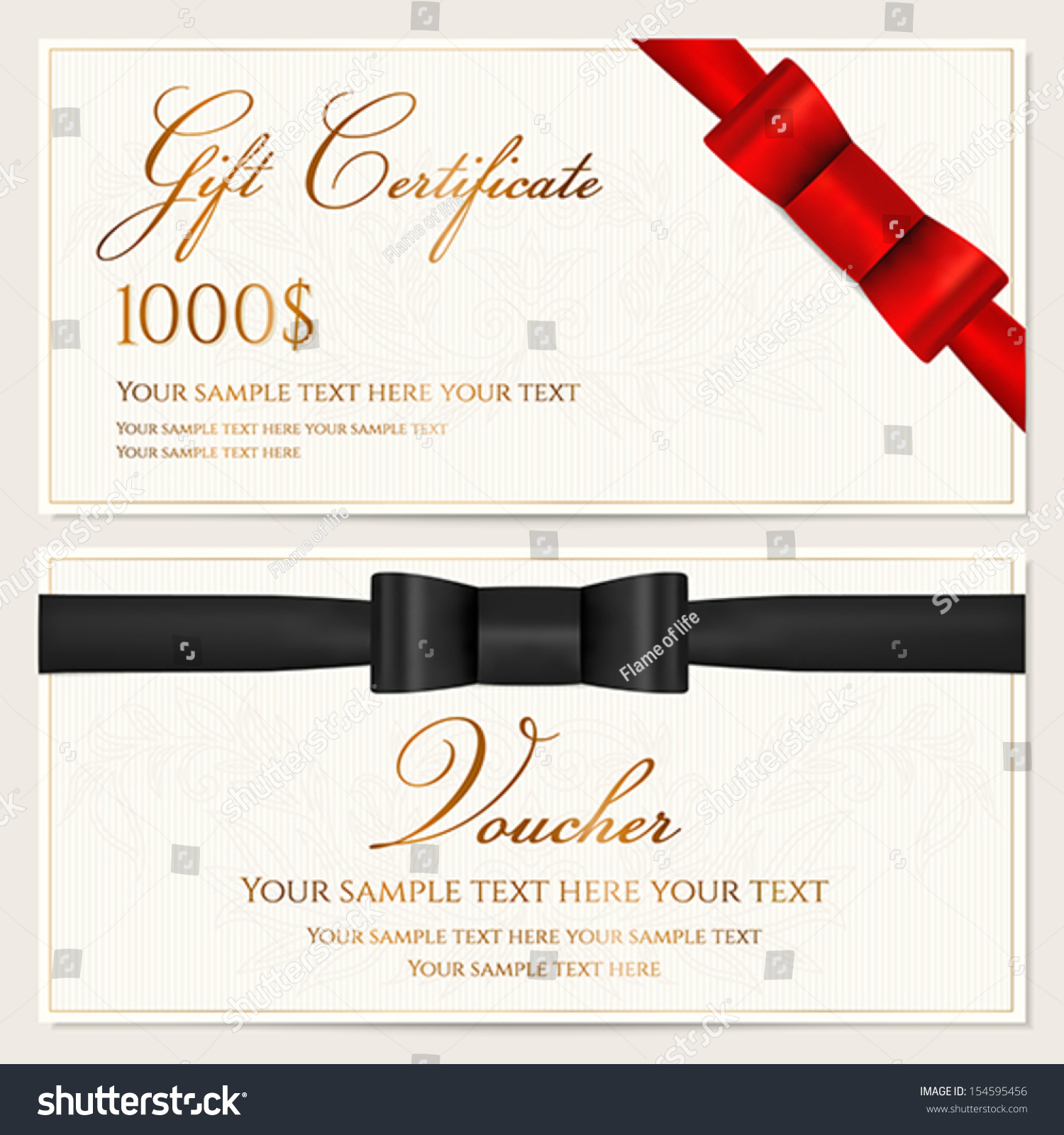 Voucher Gift Certificate Coupon Invitation Gift Vector – Sample Check Voucher