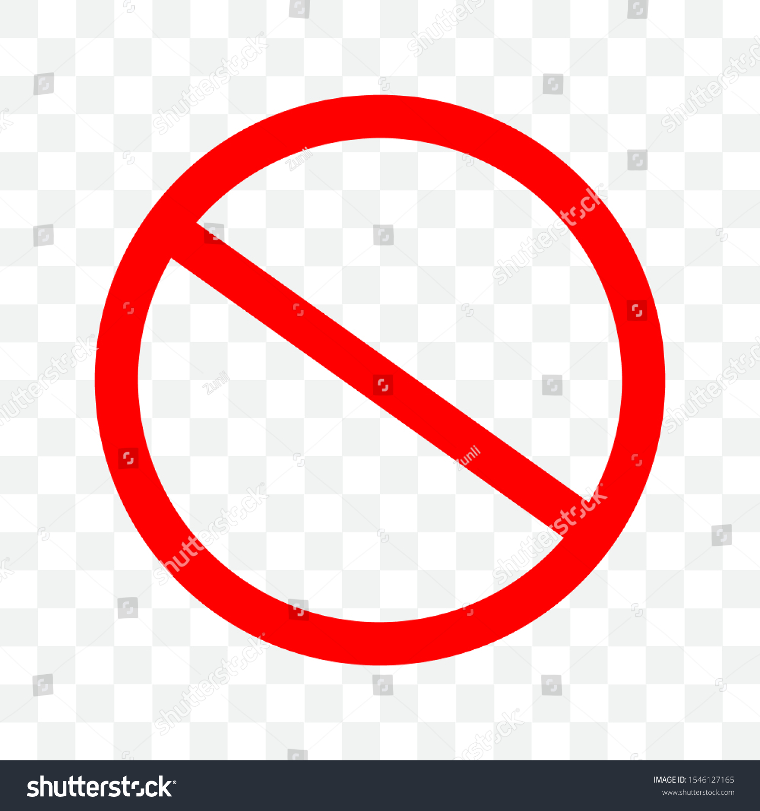 Stop Sign Icon No Sign Red Stock Vector Royalty Free 1546127165