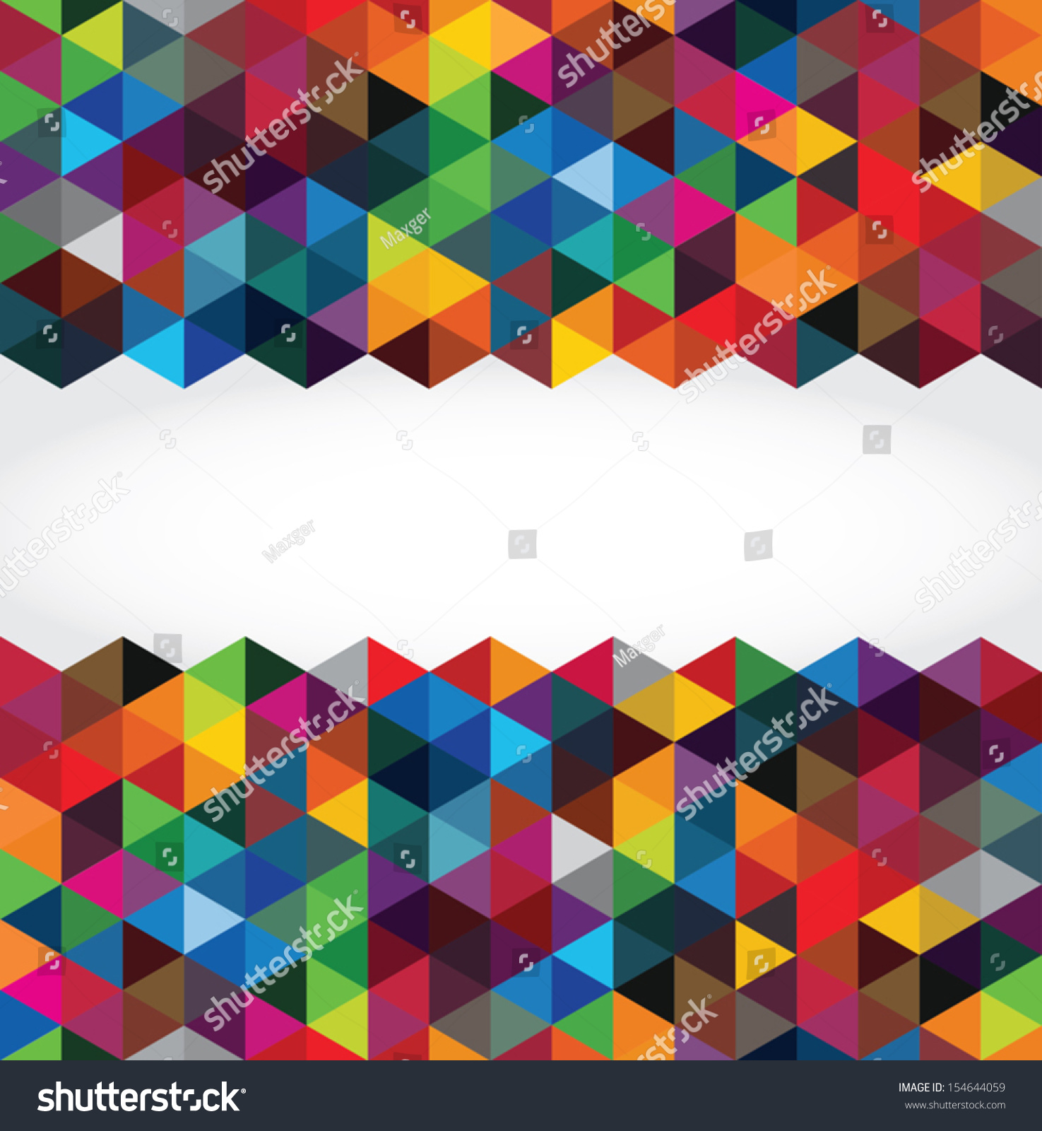Abstract Modern Geometric Background Stock Vector