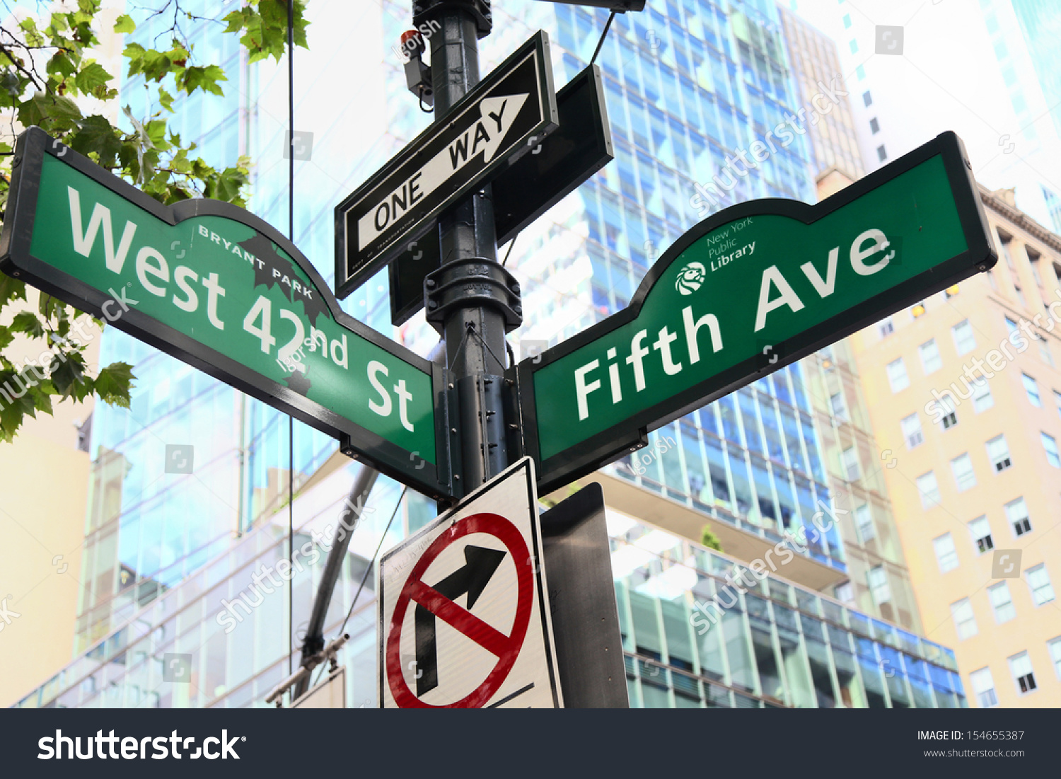 New York City Fifth Avenue West Stock Photo 154655387 ...