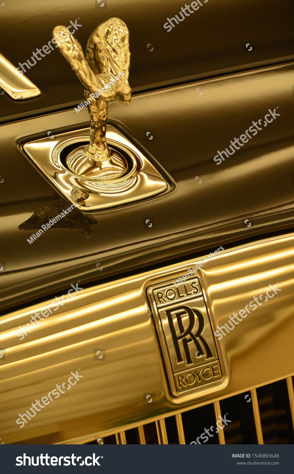 Close Spirit Ecstasy Rolls Royce Logo Stock Photo Edit Now 1546865648