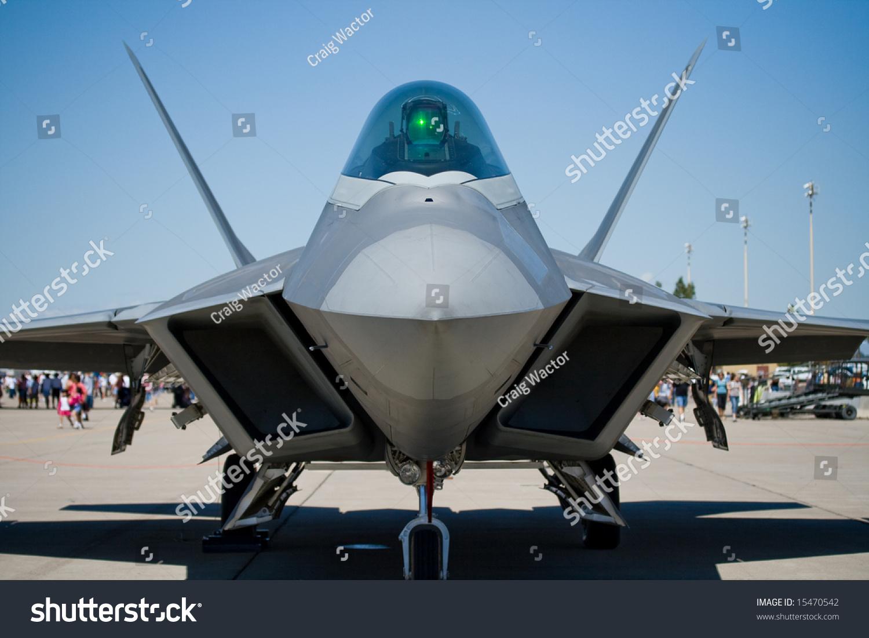 Lockheed Martin Boeing F 22 Raptor Fighter Plane Stock Photo Edit