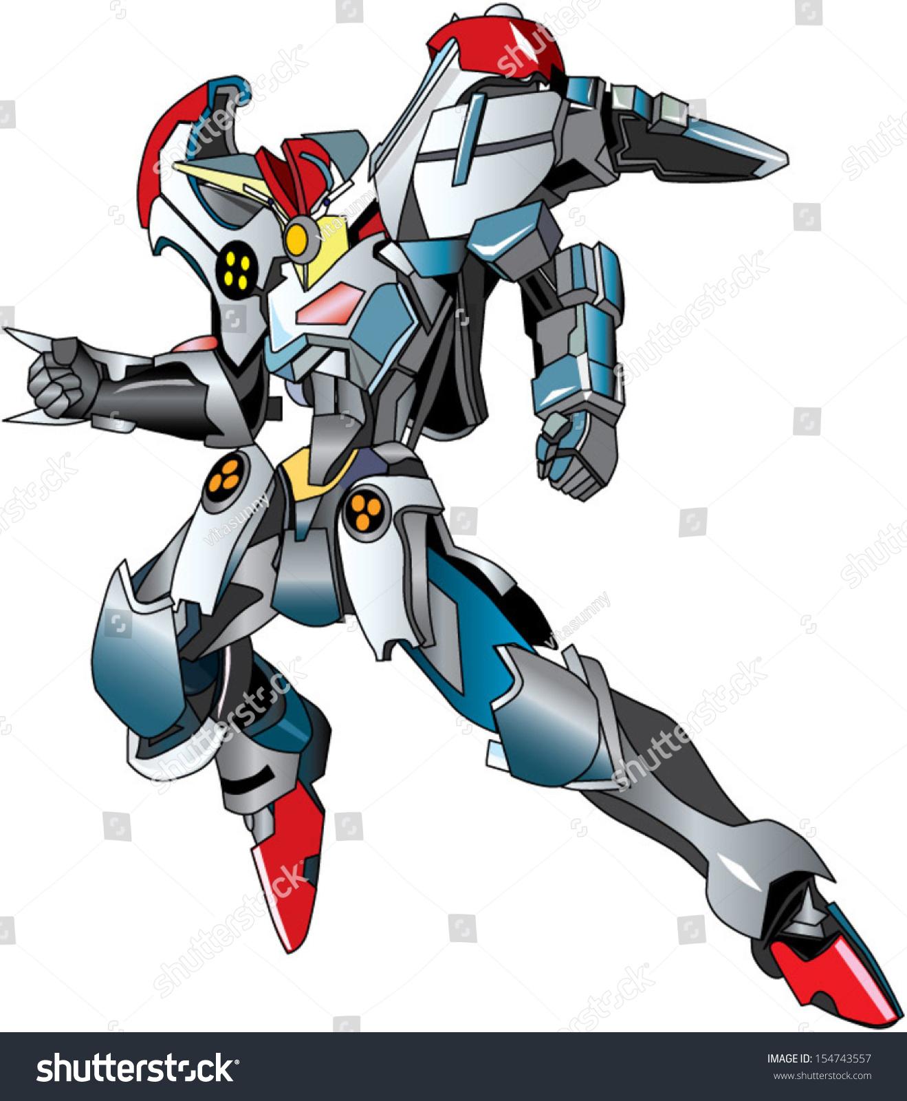 Flying cartoon robot
